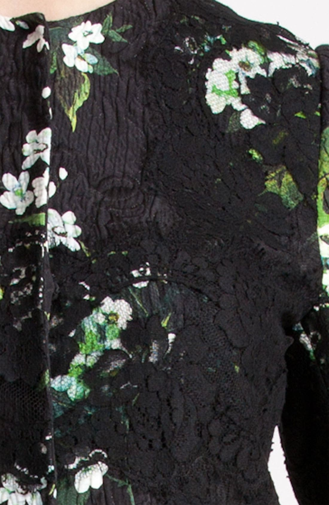Alternate Image 3  - Dolce&Gabbana Lily Print & Lace Detail Brocade Jacket