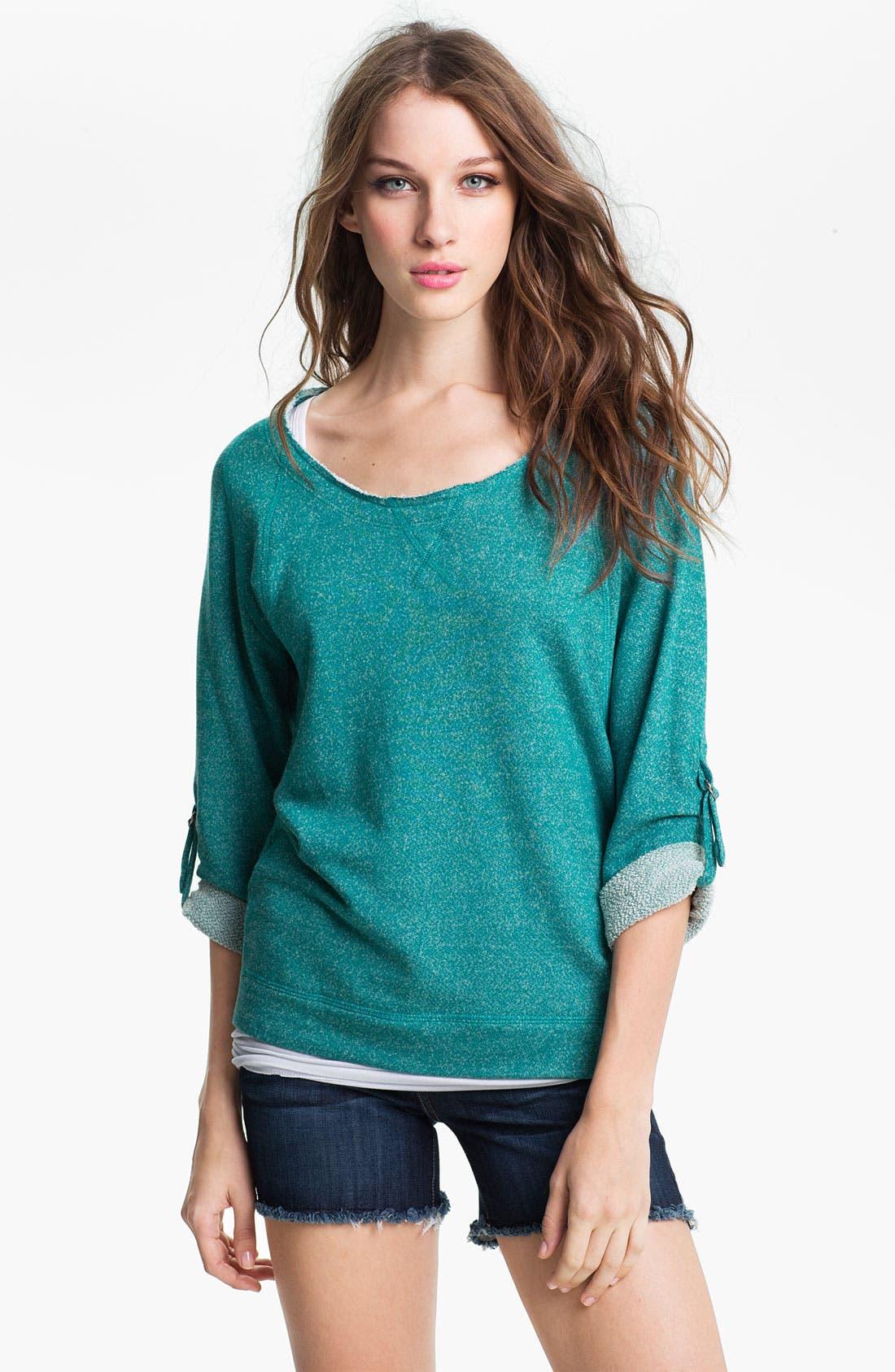 Alternate Image 1 Selected - KUT from the Kloth Tab Sleeve Sweatshirt