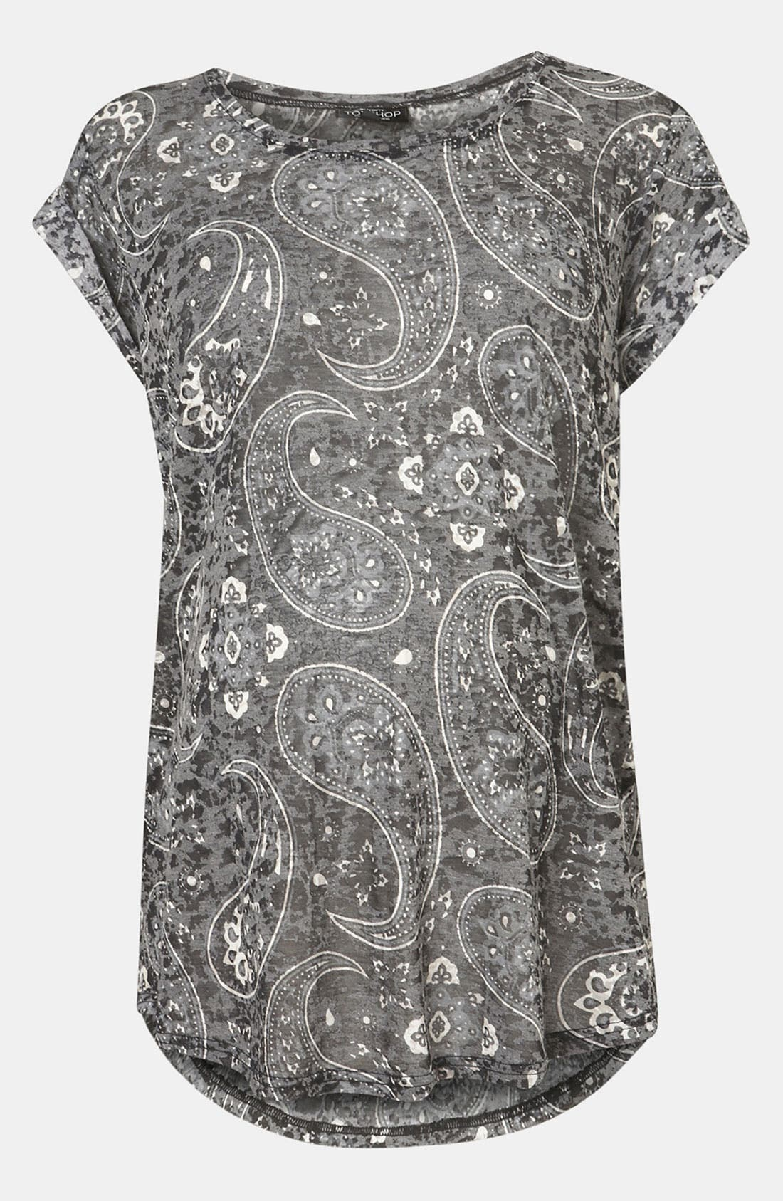 Alternate Image 1 Selected - Topshop 'Bold' Paisley Burnout  Maternity Tee
