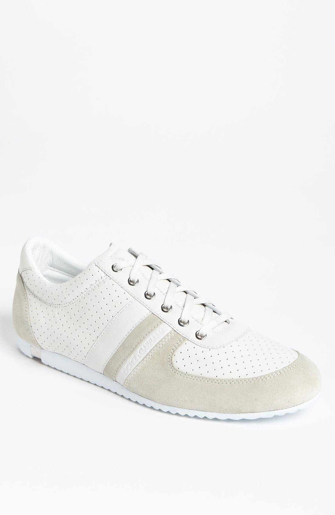 Alternate Image 1 Selected - Dolce&Gabbana Perforated Sneaker