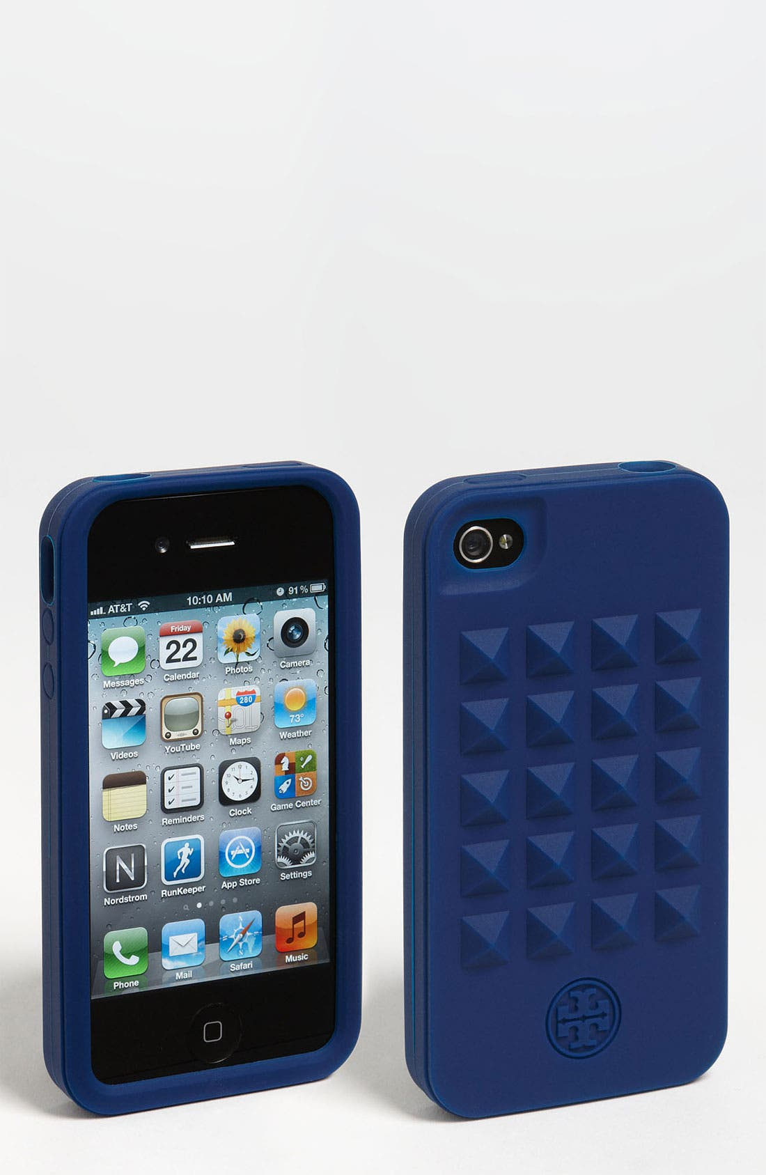 Alternate Image 1 Selected - Tory Burch Pyramid Stud iPhone 4 & 4S Case