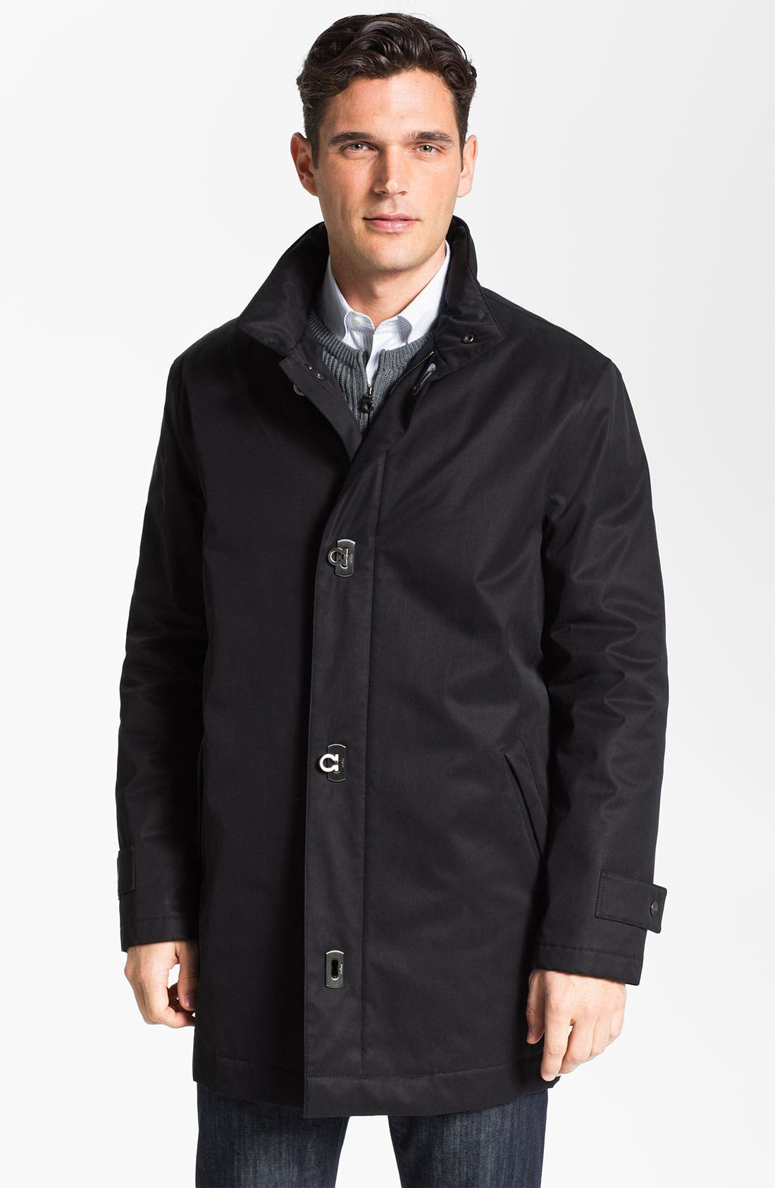 Main Image - Salvatore Ferragamo Water Resistant Car Coat