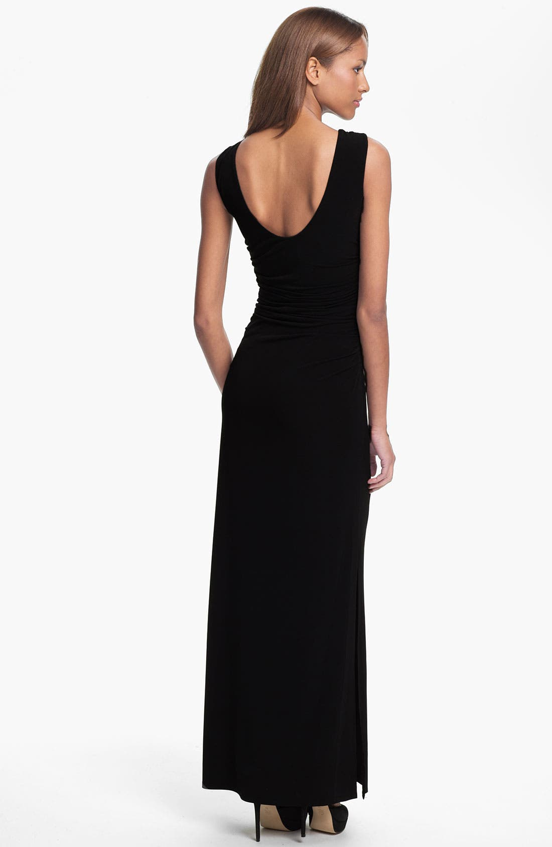 Alternate Image 2  - Laundry by Shelli Segal Embellished Neck Scoop Back Jersey Gown