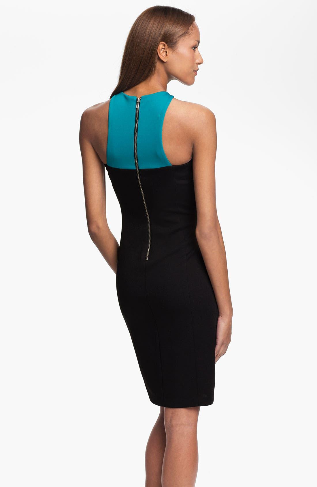 Alternate Image 2  - Maggy London Colorblock Scuba Sheath Dress