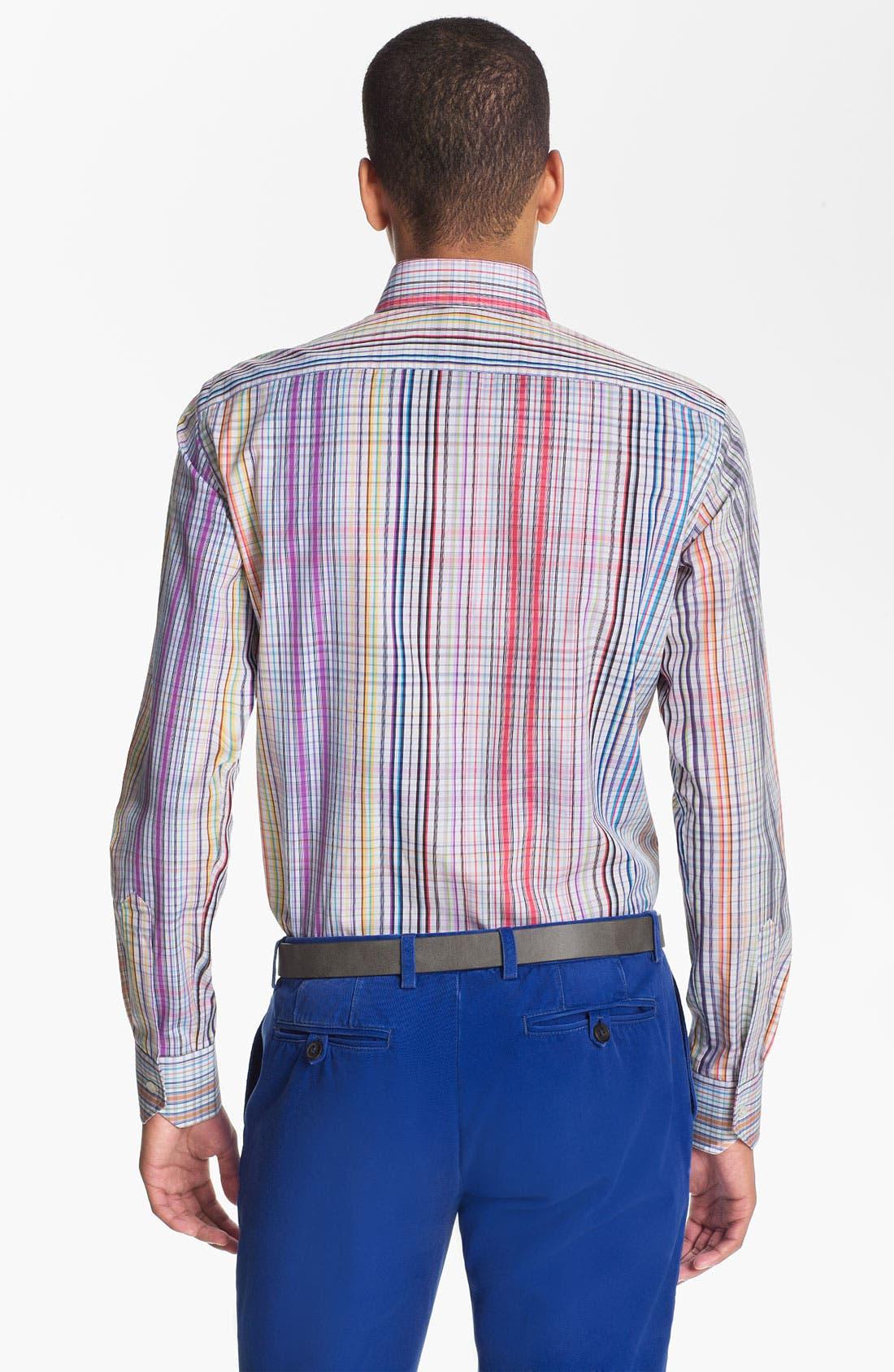 Alternate Image 2  - Etro 'Camicia New Ippolito' Plaid Cotton Shirt