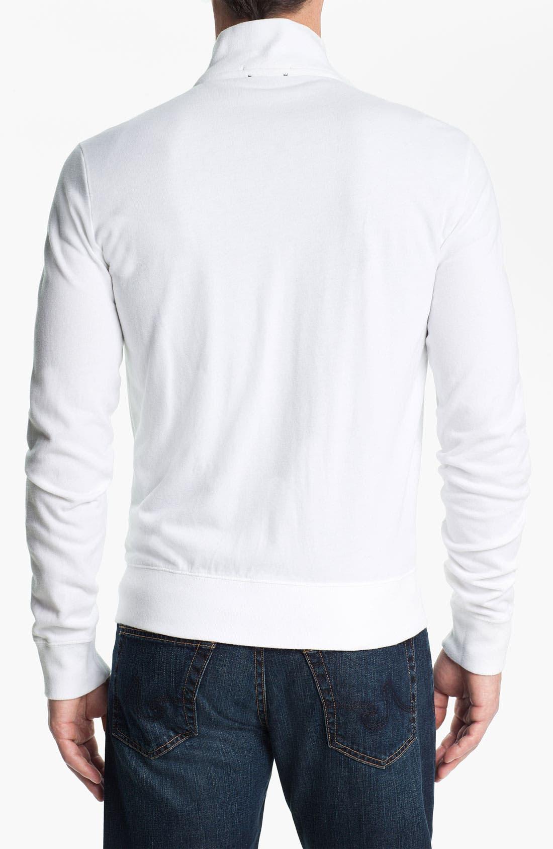 Alternate Image 2  - Etiqueta Negra Zip Front Sweatshirt