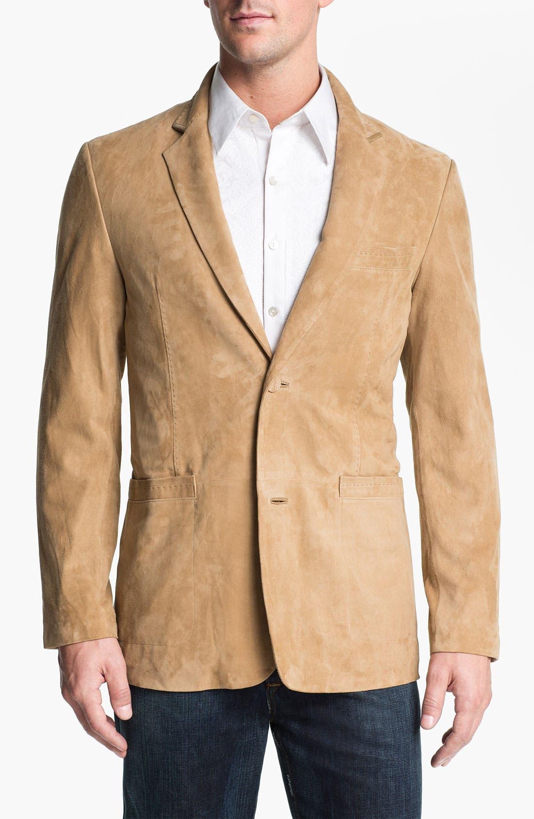 Alternate Image 1 Selected - Robert Graham 'Wythe' Suede Sportcoat