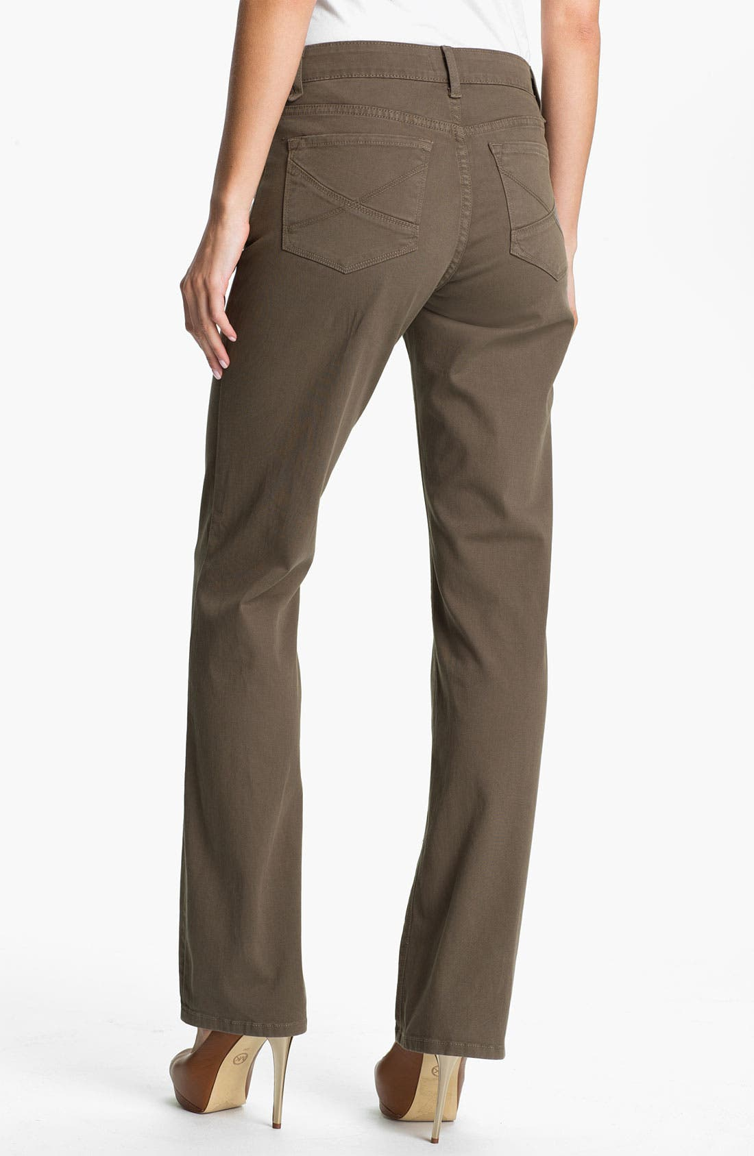Alternate Image 2  - NYDJ 'Hayden' Straight Leg Twill Jeans