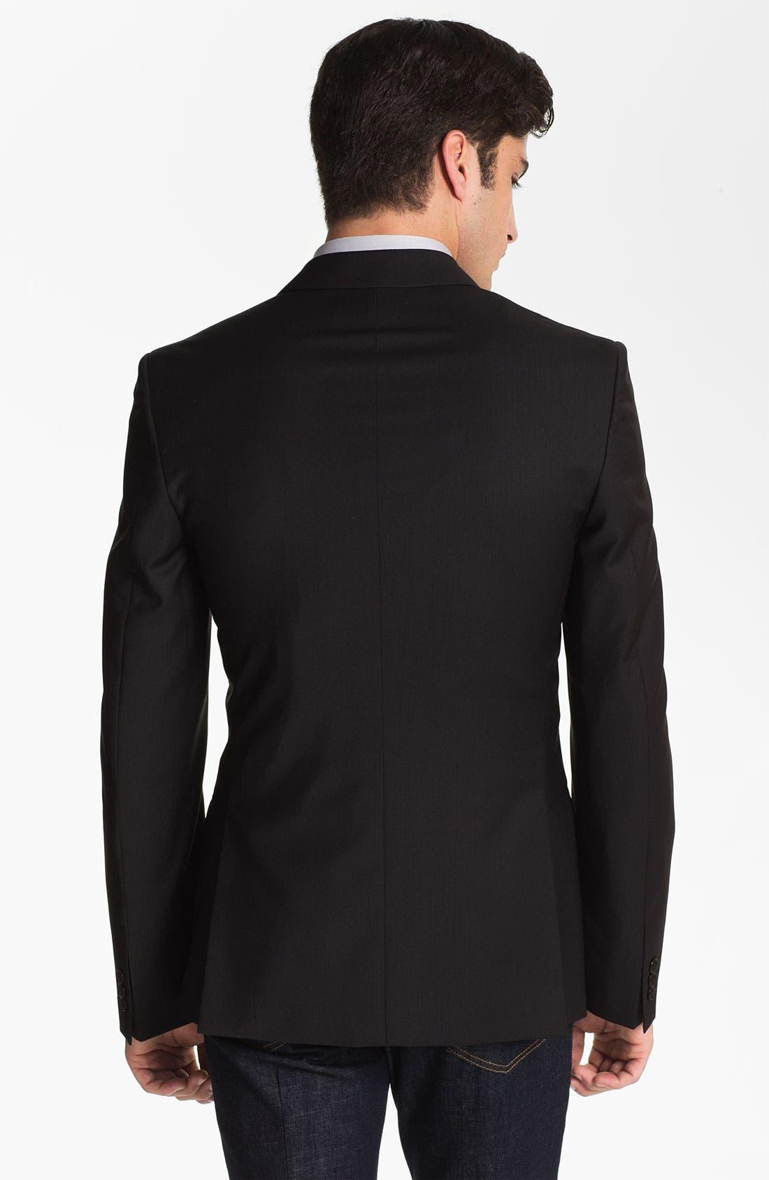 Alternate Image 2  - Versace Trim Fit Wool Blend Blazer (Online Only)