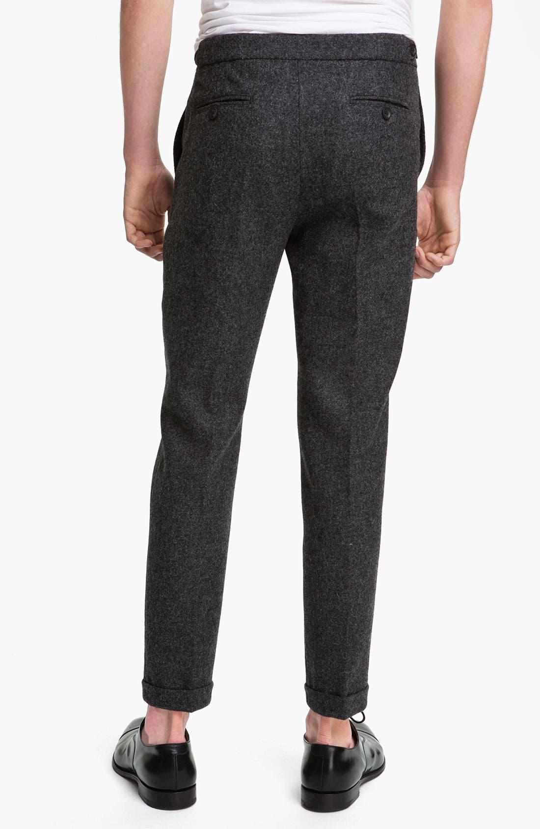 Alternate Image 2  - Topman Skinny Fit Wool Trousers