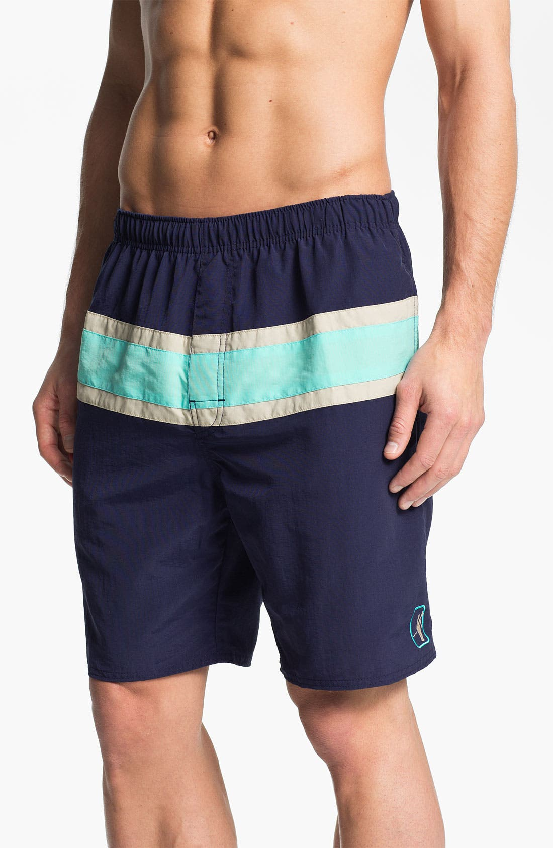 Main Image - Toes on the Nose 'Competition' Volley Swim Shorts