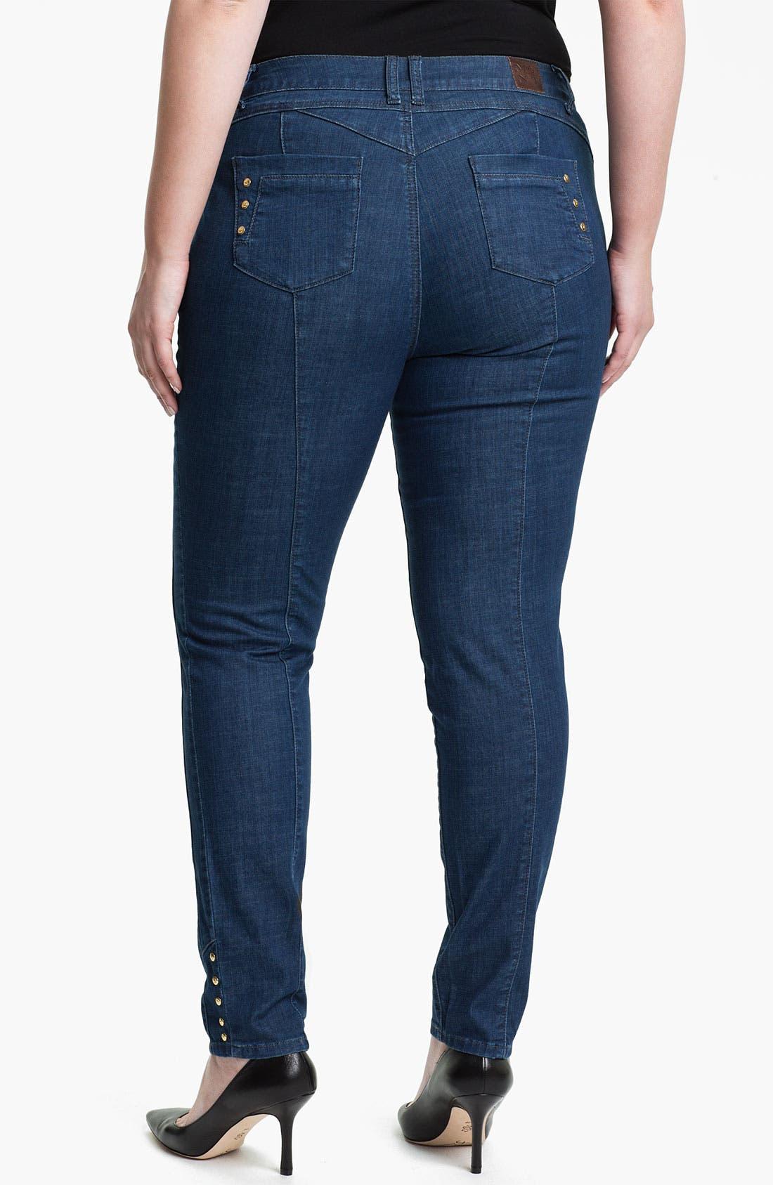 Alternate Image 2  - Mynt 1792 'Midtown' Skinny Jeans (Plus)