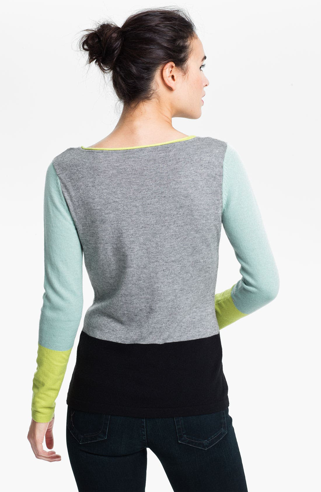 Alternate Image 2  - Vince Camuto Colorblock Sweater