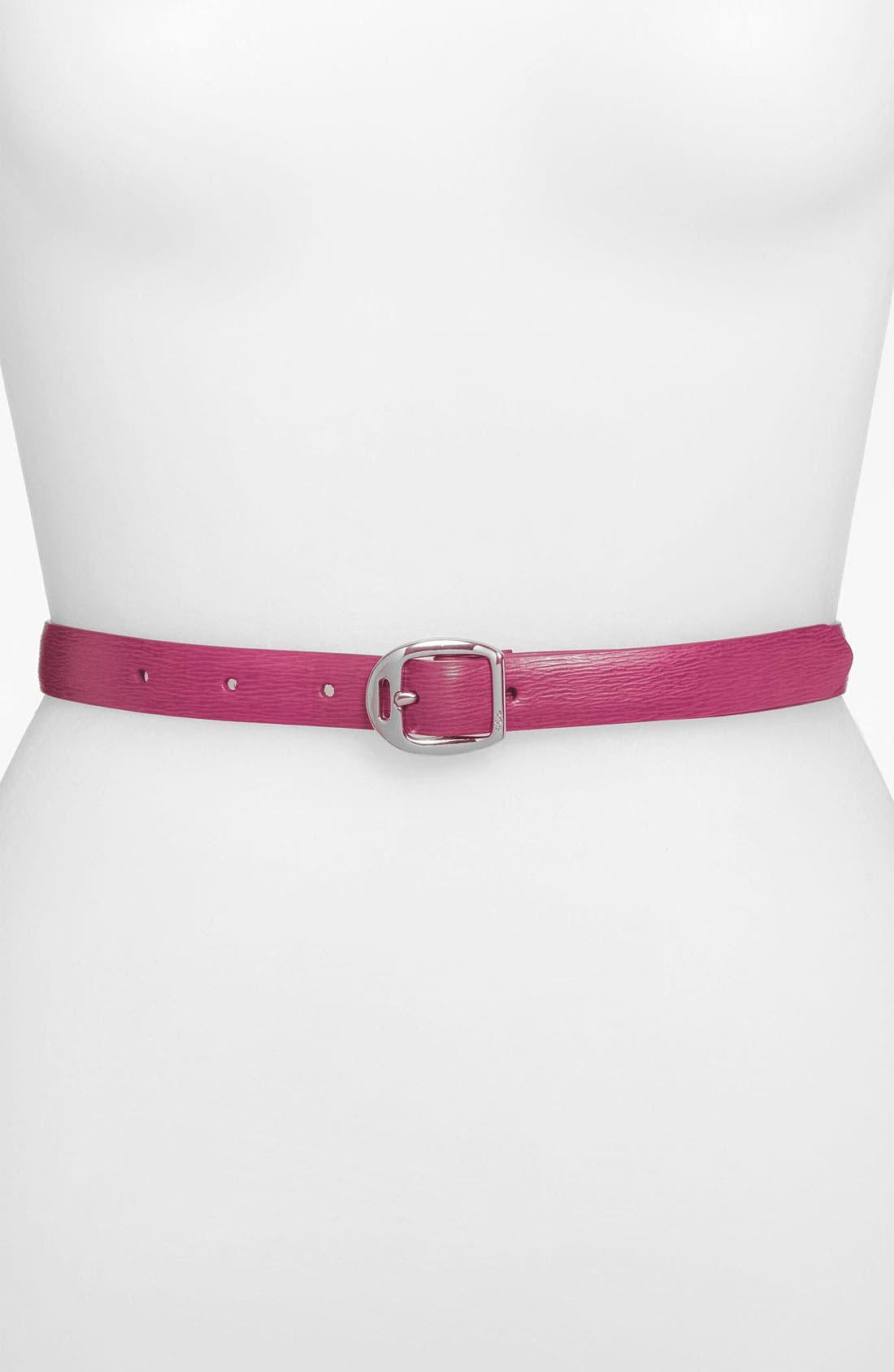 Alternate Image 1 Selected - Lauren Ralph Lauren Leather Belt