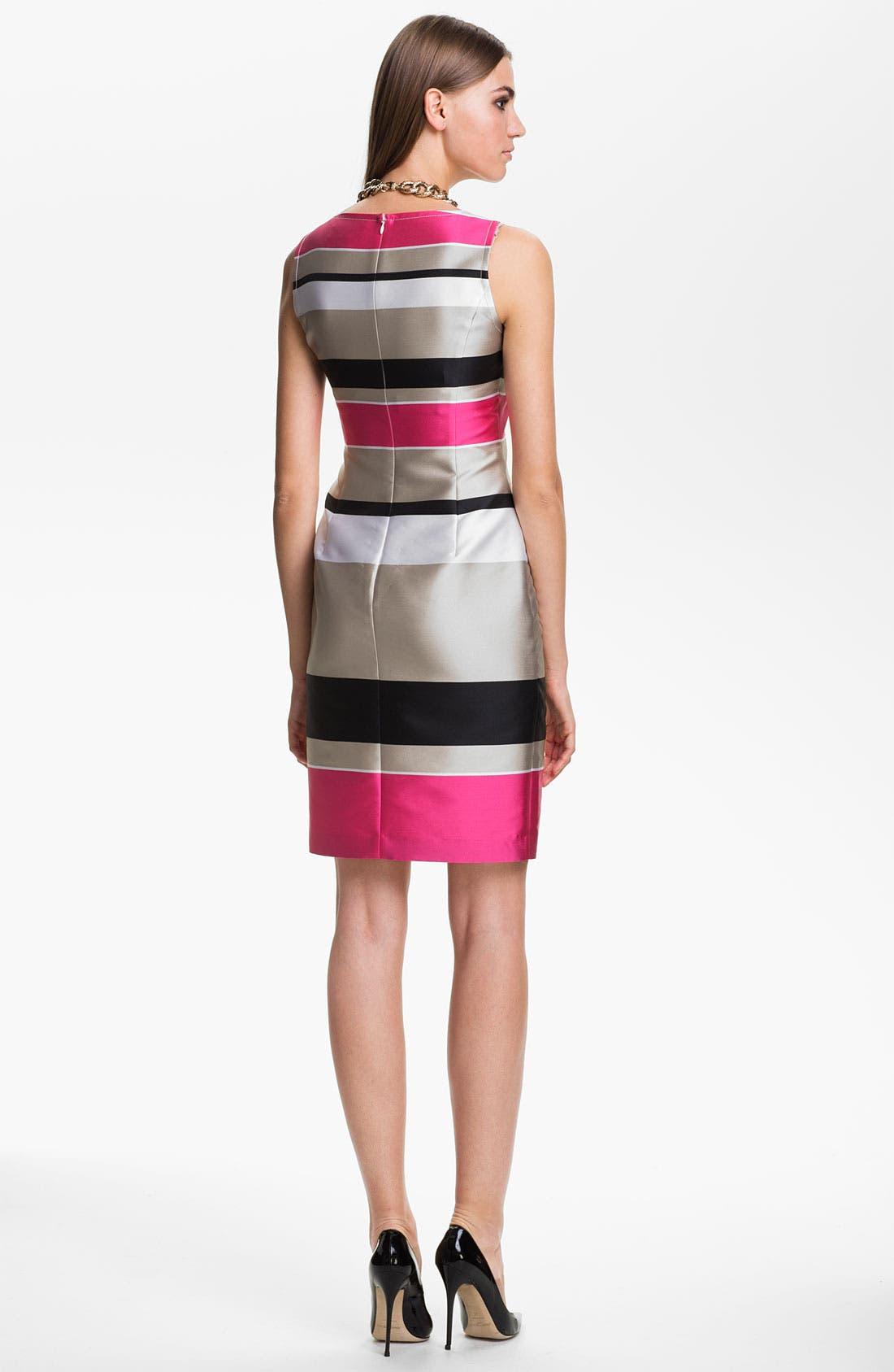 Alternate Image 2  - St. John Collection Stripe Mikado Dress