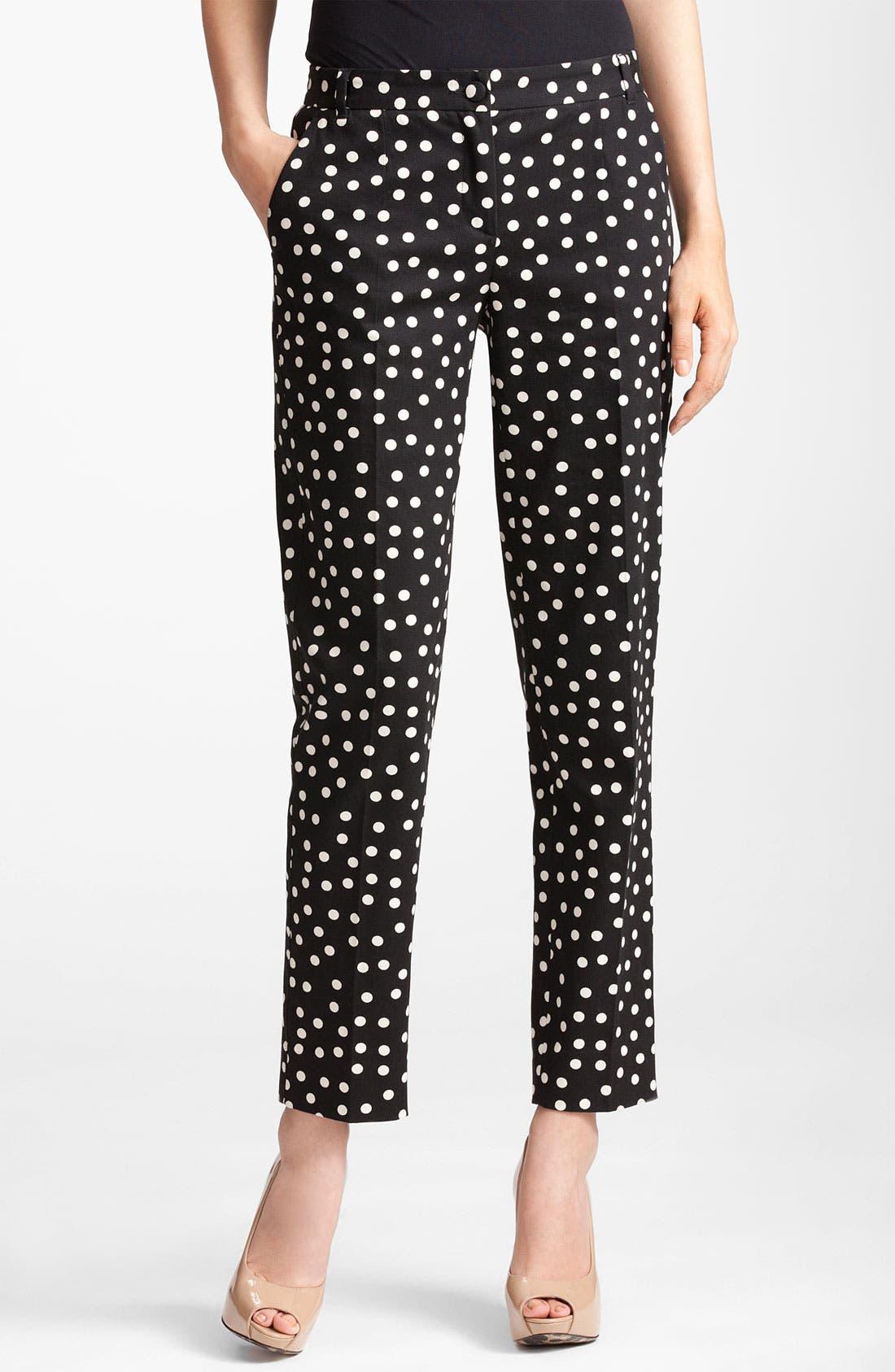 Alternate Image 1 Selected - Dolce&Gabbana Polka Dot Skinny Crop Pants