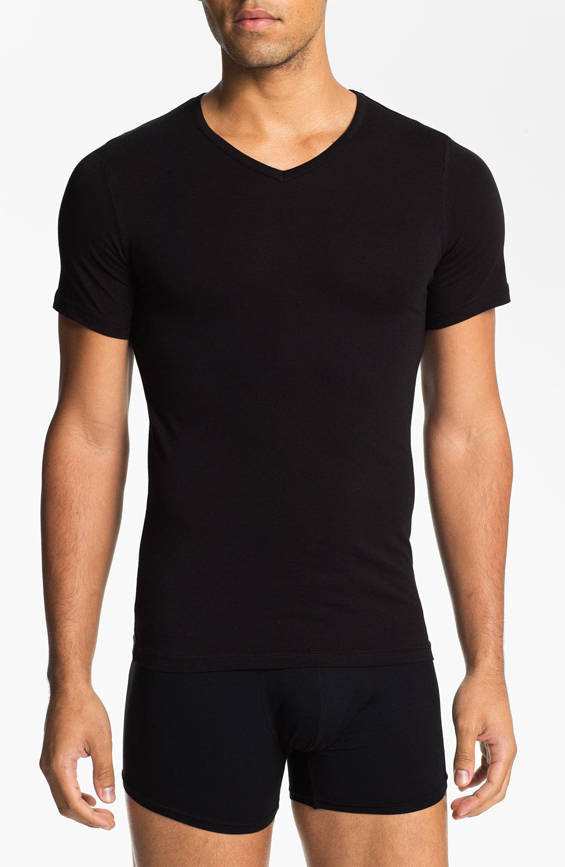 Alternate Image 1 Selected - Naked V-Neck Cotton Undershirt