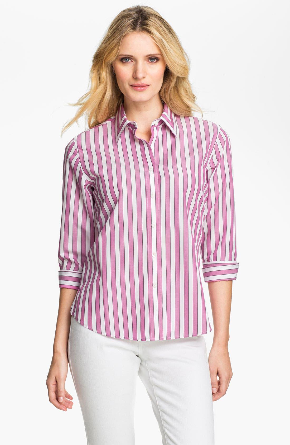 Main Image - Foxcroft Bold Stripe Shirt