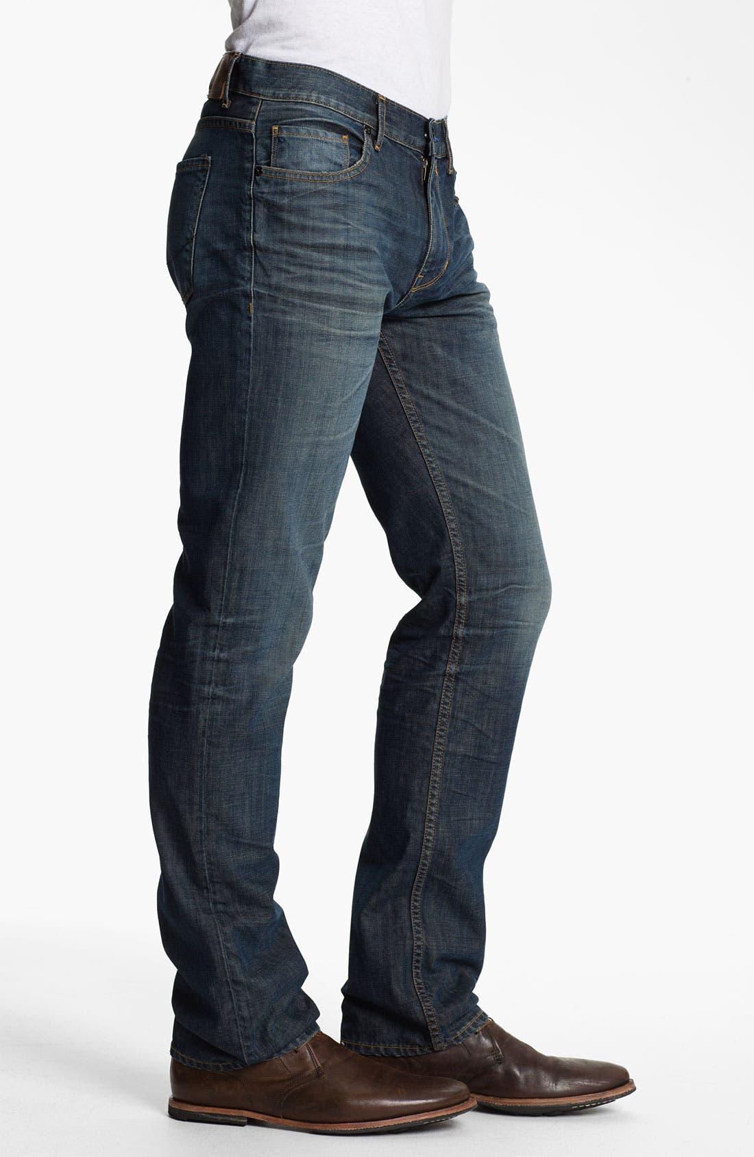 Alternate Image 3  - PAIGE 'Normandie' Slim Straight Leg Jeans (Castaway)
