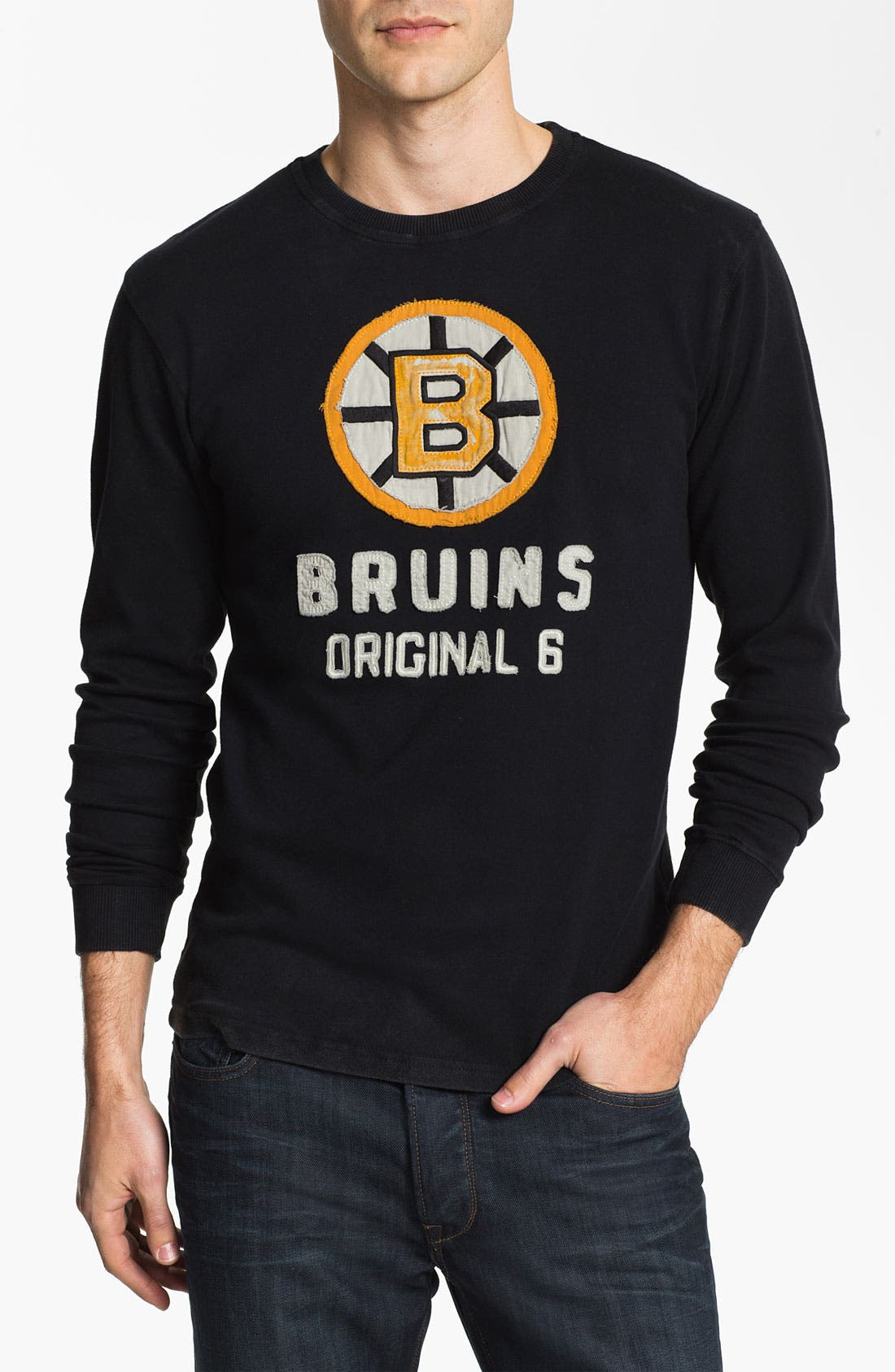 Alternate Image 1 Selected - Red Jacket 'Bruins  - Team City' Long Sleeve T-Shirt