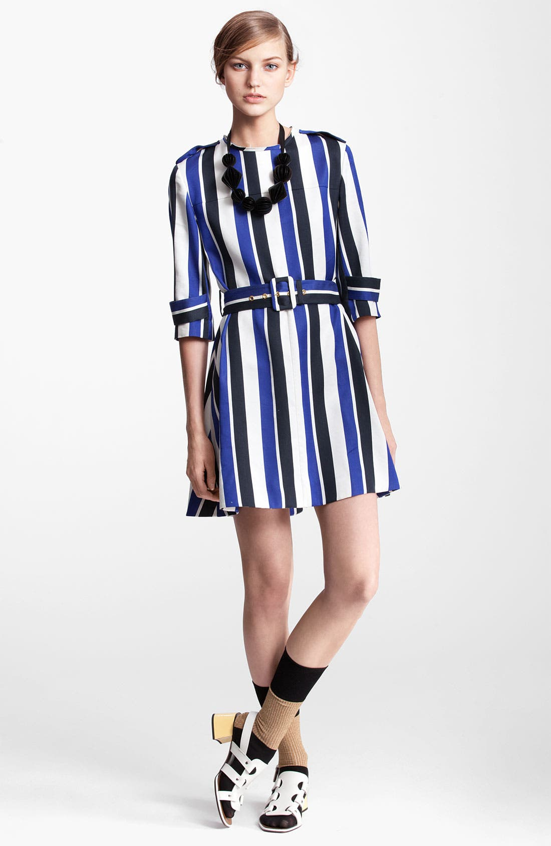 Alternate Image 1 Selected - Marni Edition Belted Stripe Dress