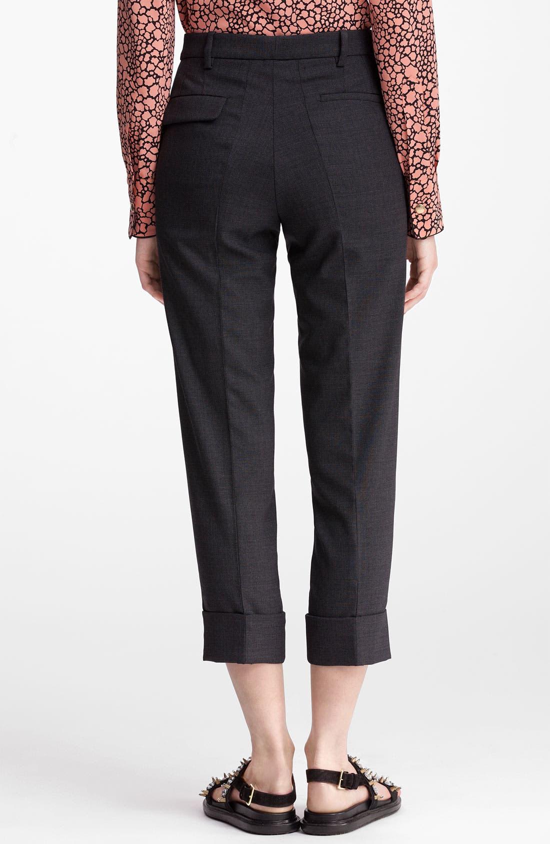 Alternate Image 2  - Marni Cuff Crop Wool Pants