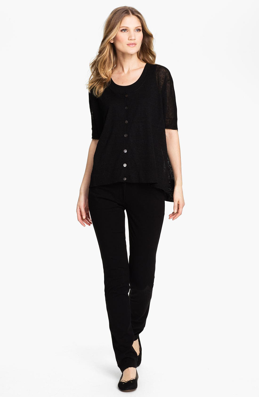 Alternate Image 3  - Eileen Fisher Organic Stretch Cotton Twill Ankle Pants (Regular & Petite)
