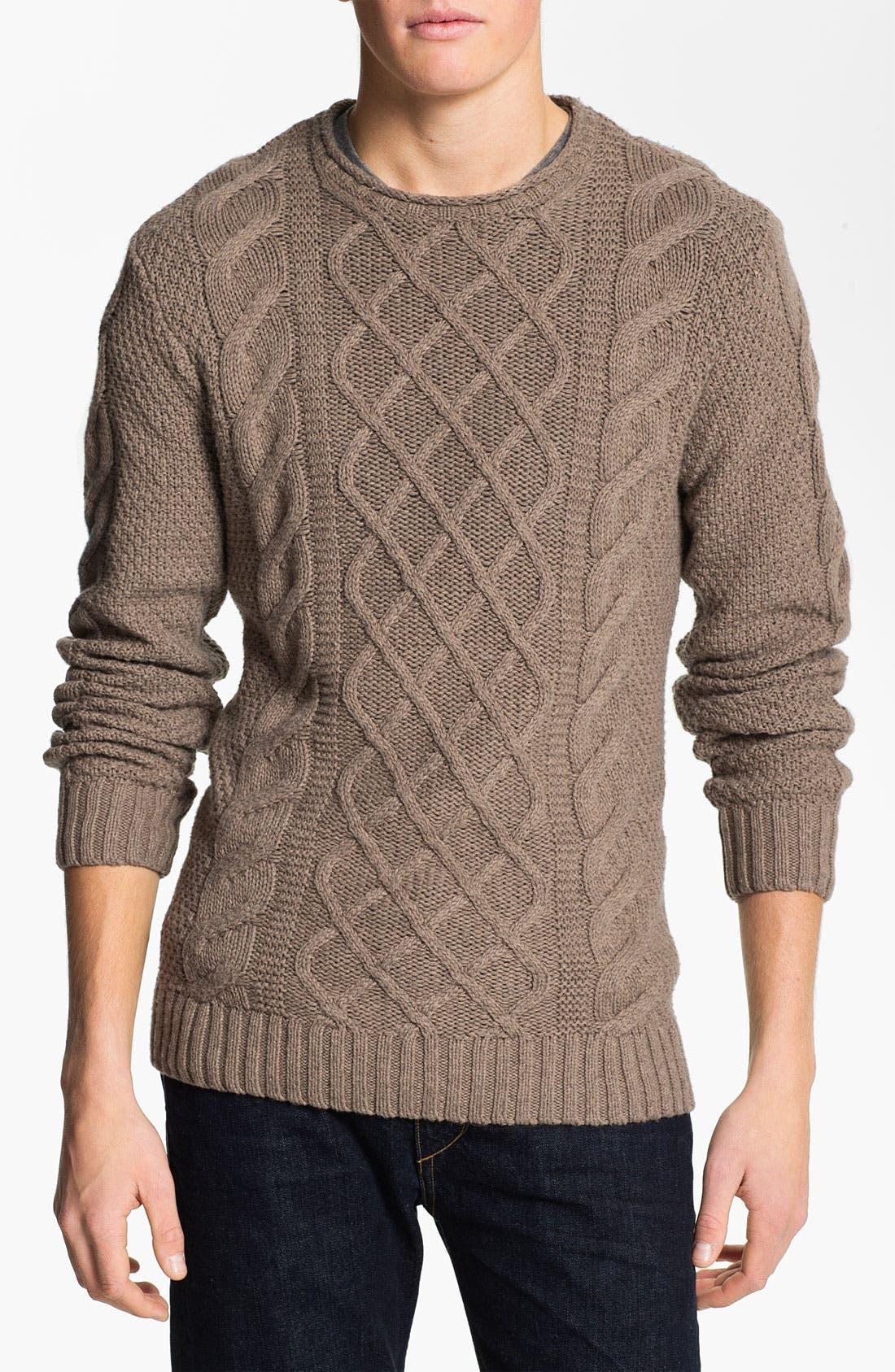 Alternate Image 1 Selected - Original Penguin Cable Knit Sweater