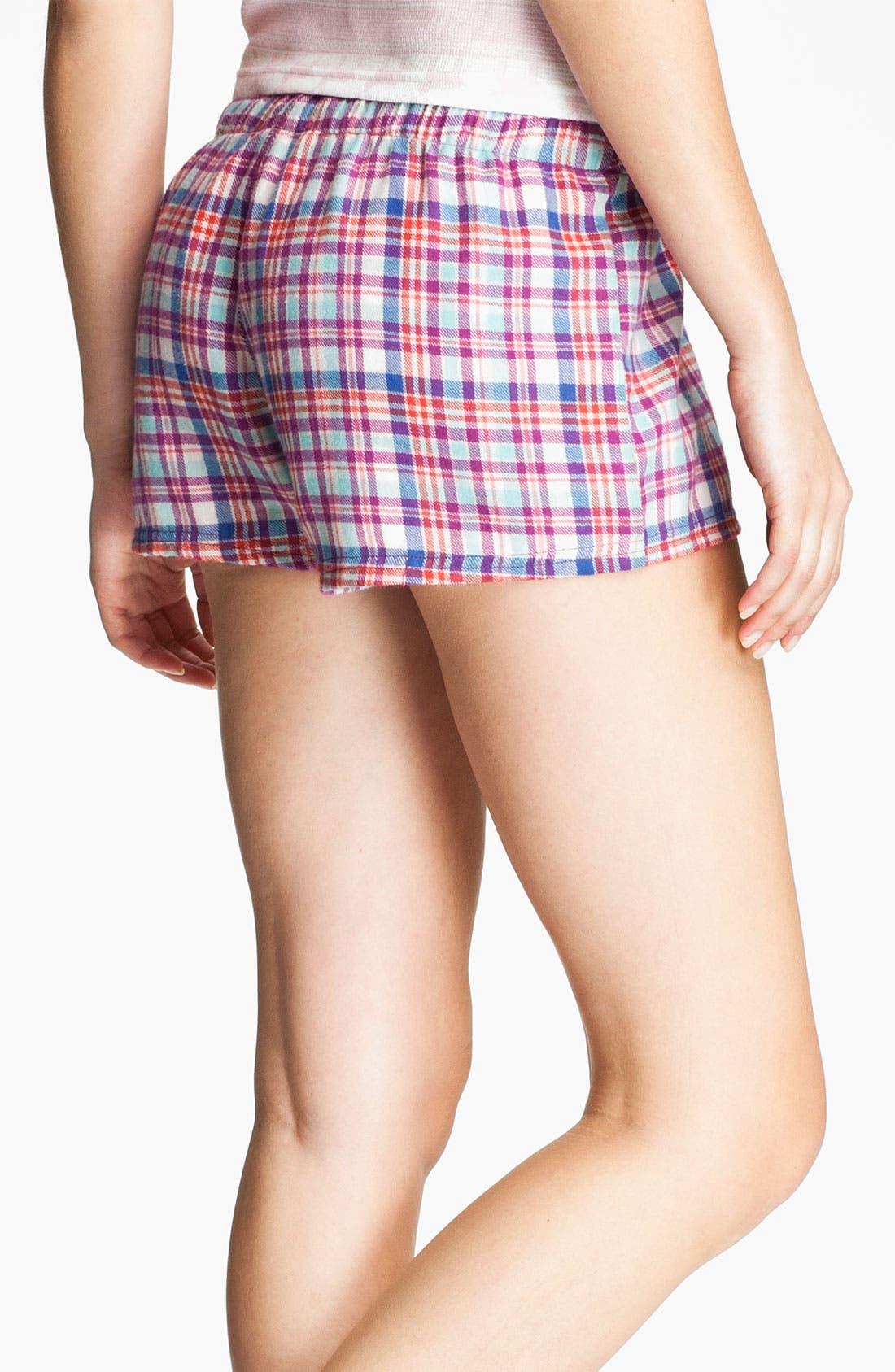 Alternate Image 2  - BP. 'Union' Flannel Lounge Shorts (Juniors)