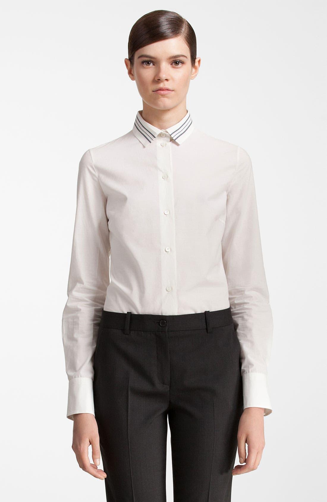 Alternate Image 1 Selected - Jil Sander Navy Stripe Collar Shirt