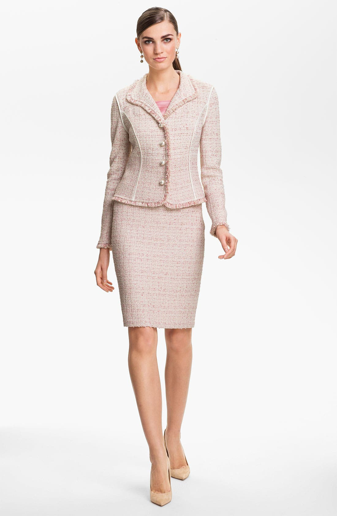 Alternate Image 2  - St. John Collection Eyelash Shimmer Tweed Pencil Skirt
