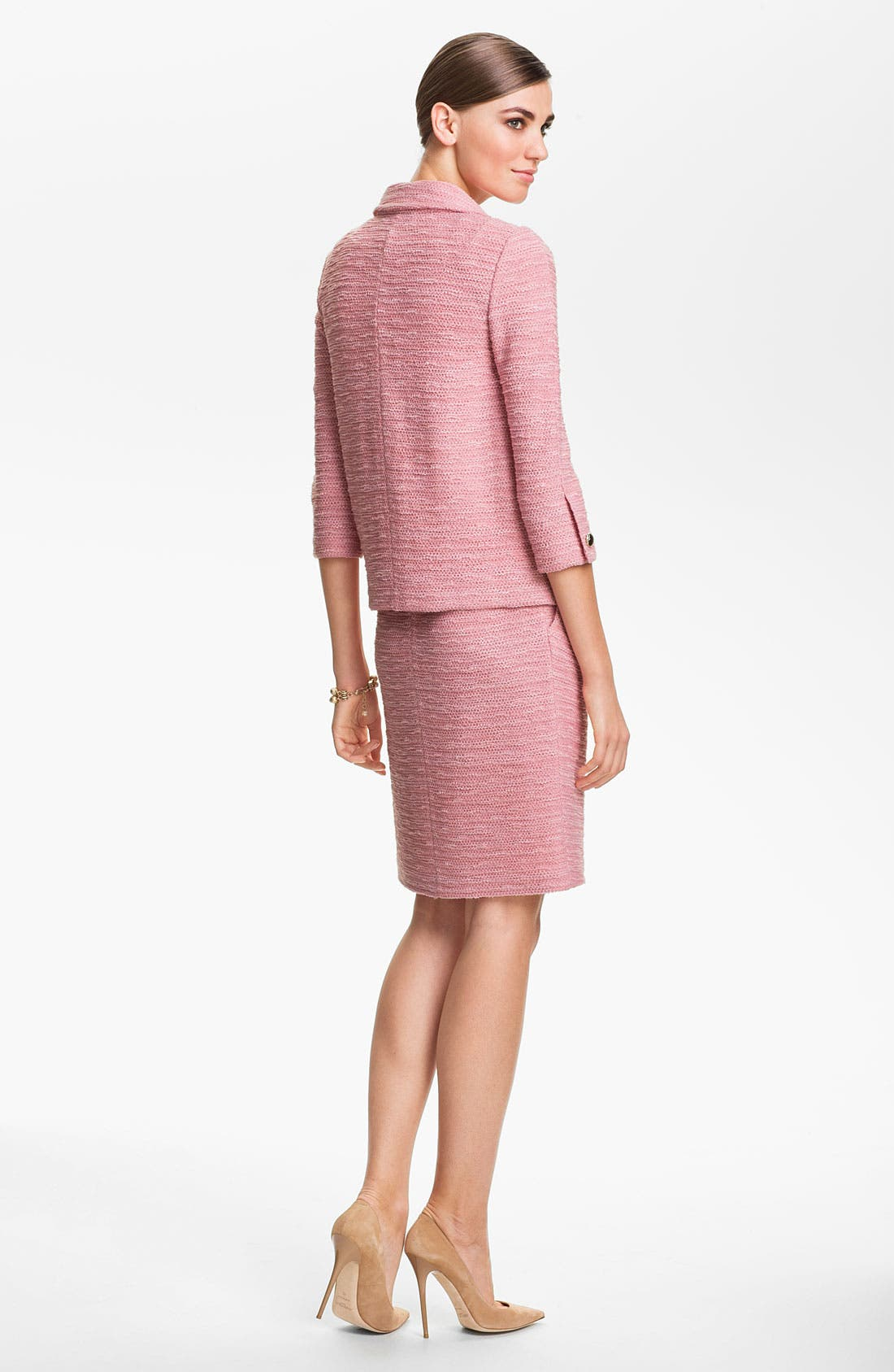 Alternate Image 4  - St. John Collection 'New Shantung' Knit Dress
