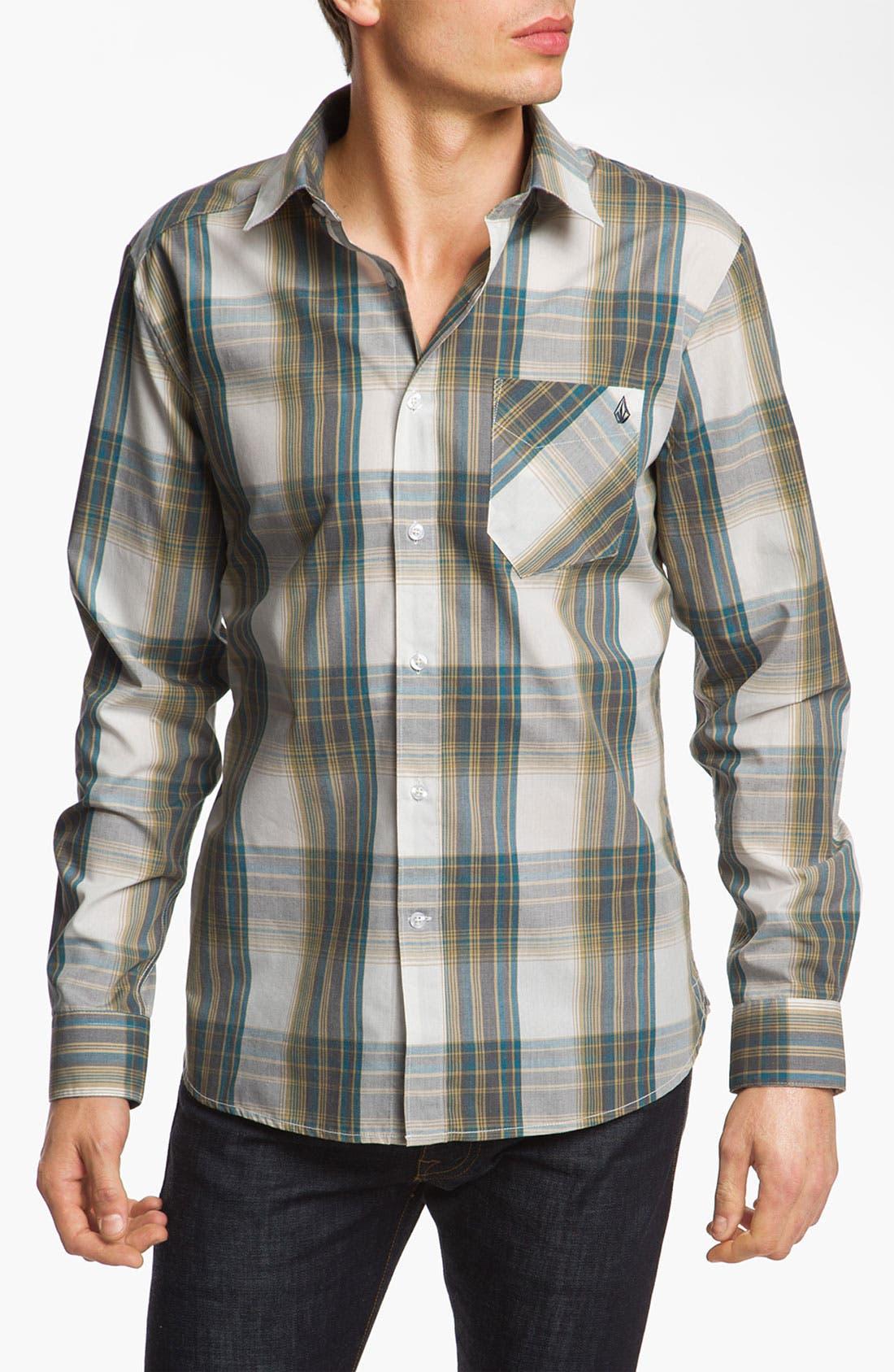 Alternate Image 1 Selected - Volcom 'Ex-Factor' Plaid Woven Shirt