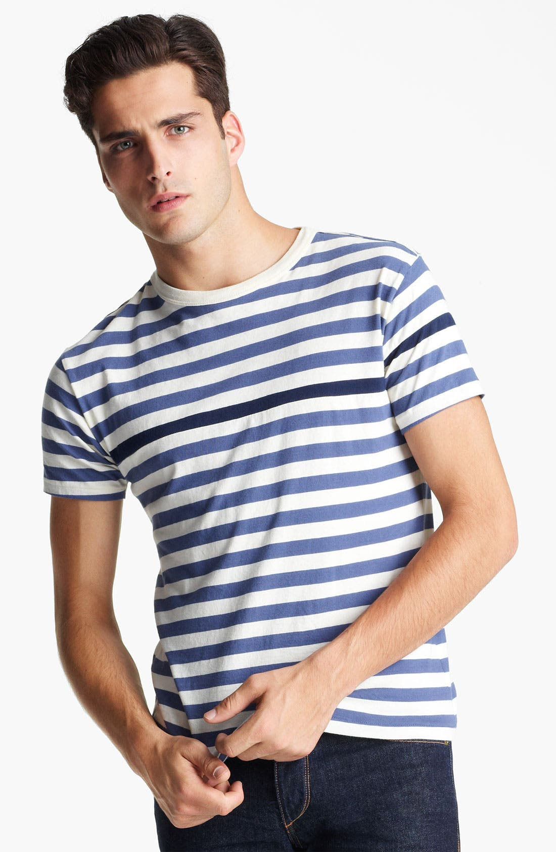 Alternate Image 1 Selected - rag & bone Stripe Print T-Shirt