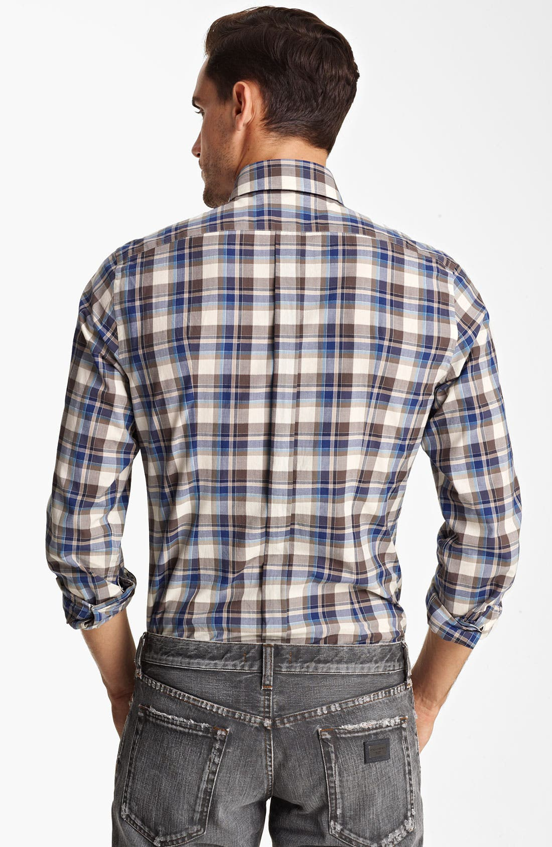 Alternate Image 2  - Dolce&Gabbana Check Woven Shirt