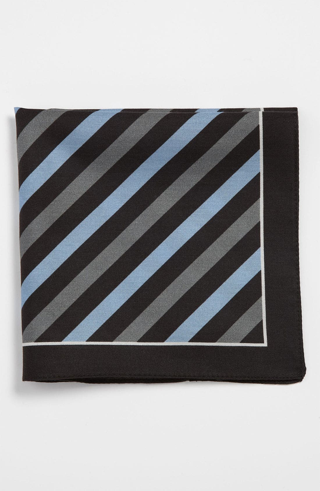 Main Image - BOSS Black Cotton & Silk Pocket Square