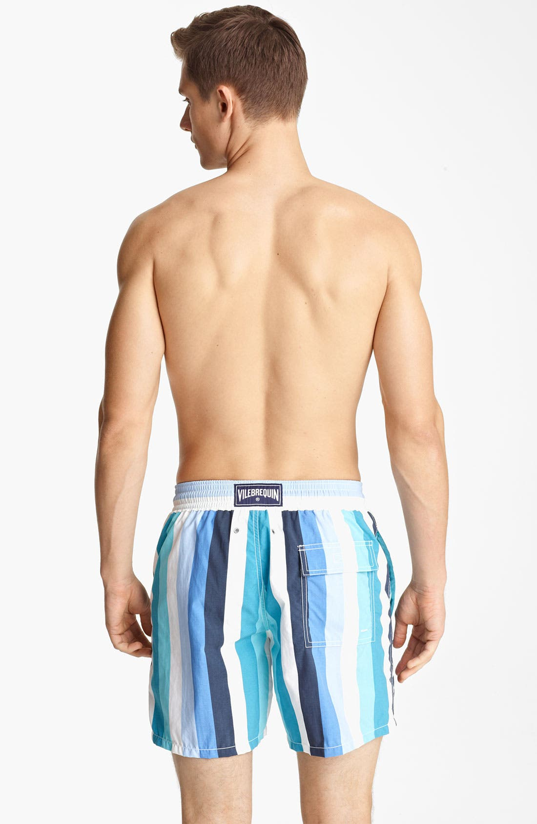 Alternate Image 2  - Vilebrequin 'Moorea' Stripe Print Swim Trunks