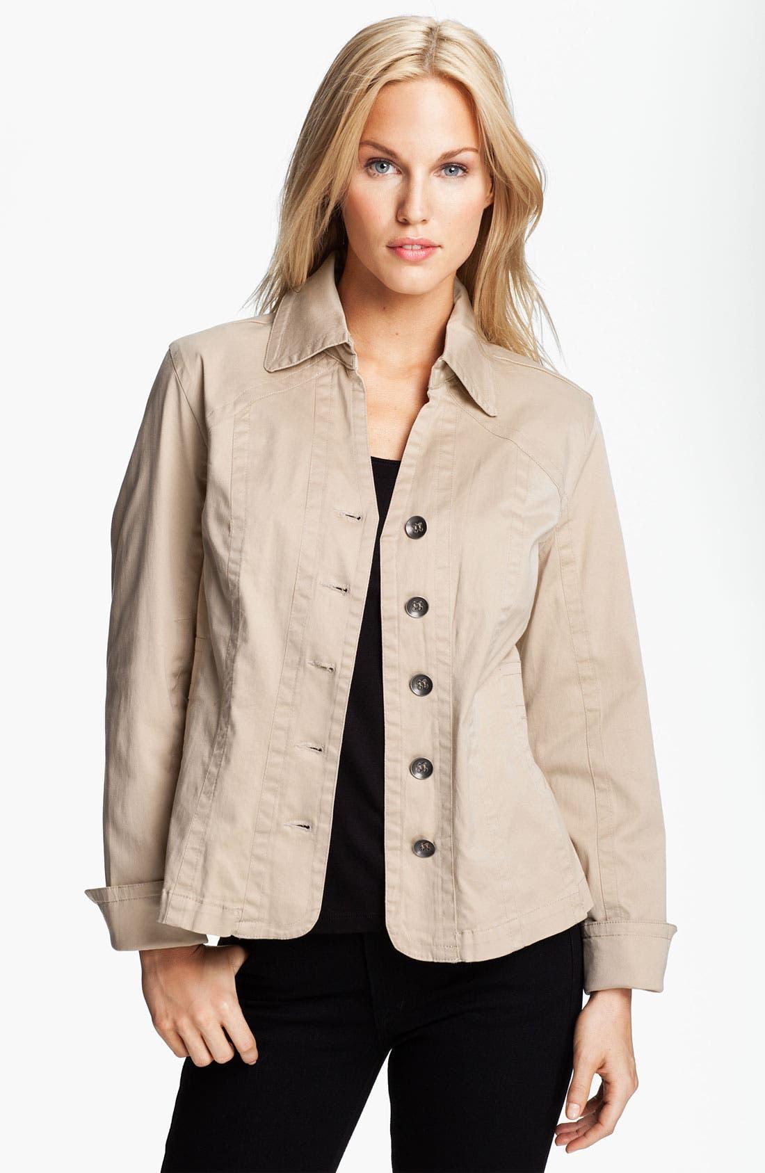Alternate Image 1 Selected - Tria Pleat Hem Twill Jacket
