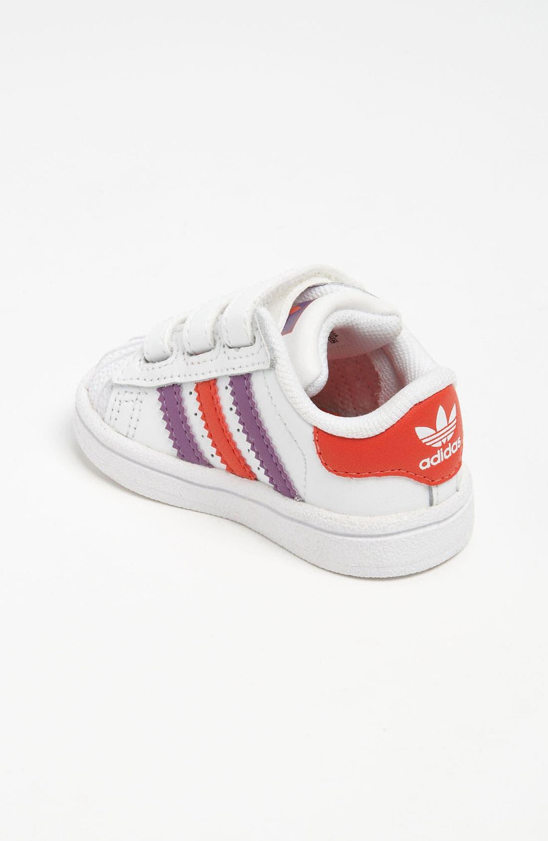 Alternate Image 2  - adidas 'Superstar 2' Sneaker (Baby, Walker & Toddler)