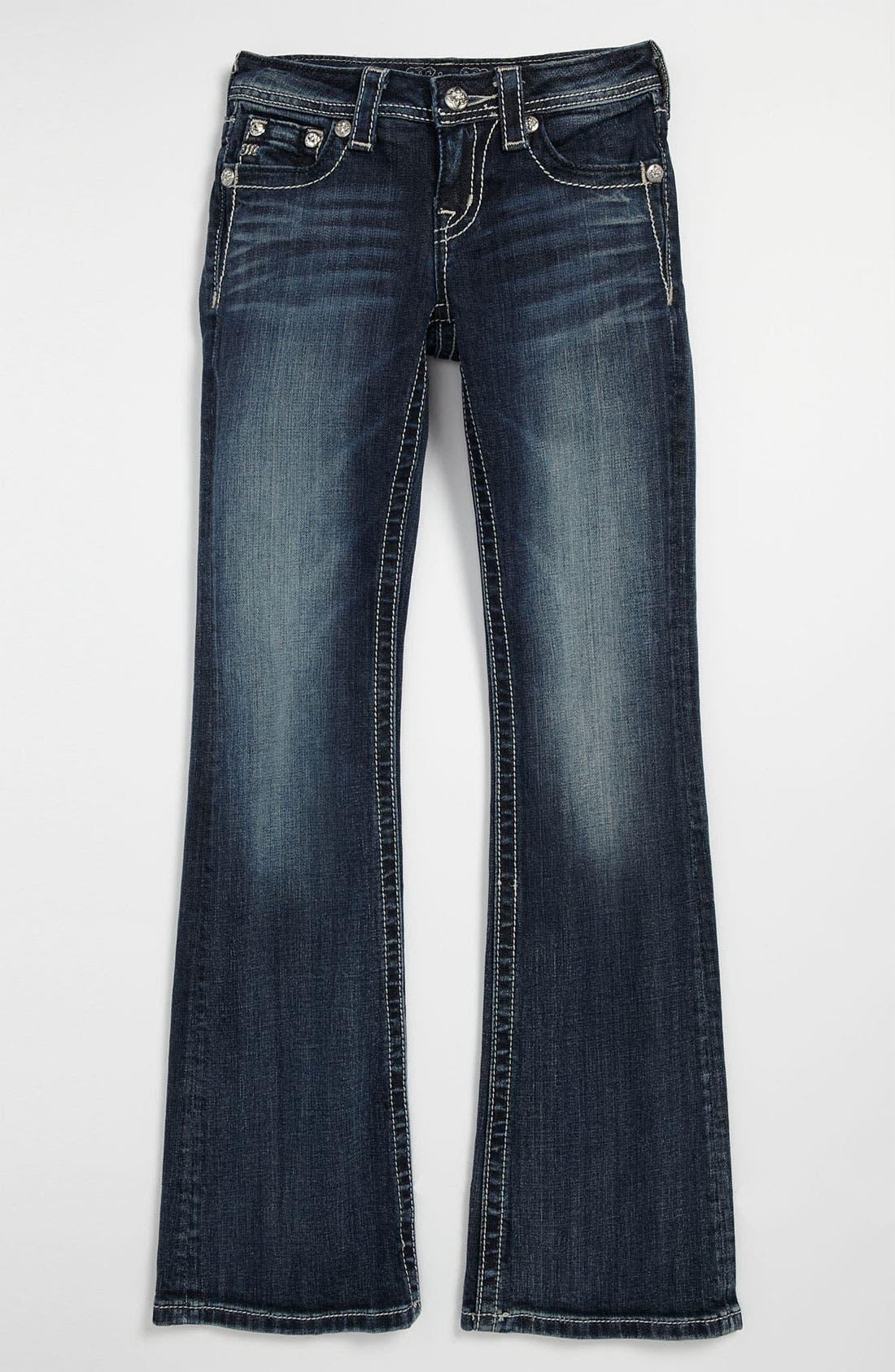 Alternate Image 2  - Miss Me 'Fleur' Bootcut Jeans (Big Girls)