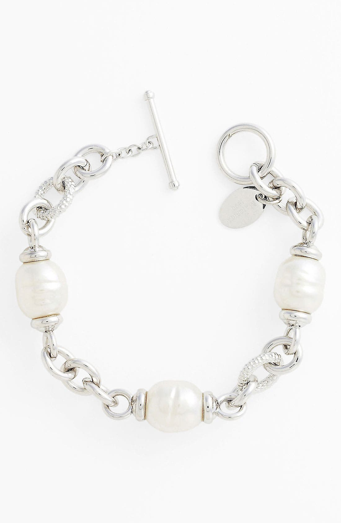 Alternate Image 1 Selected - Majorica 12mm Baroque Pearl Line Bracelet