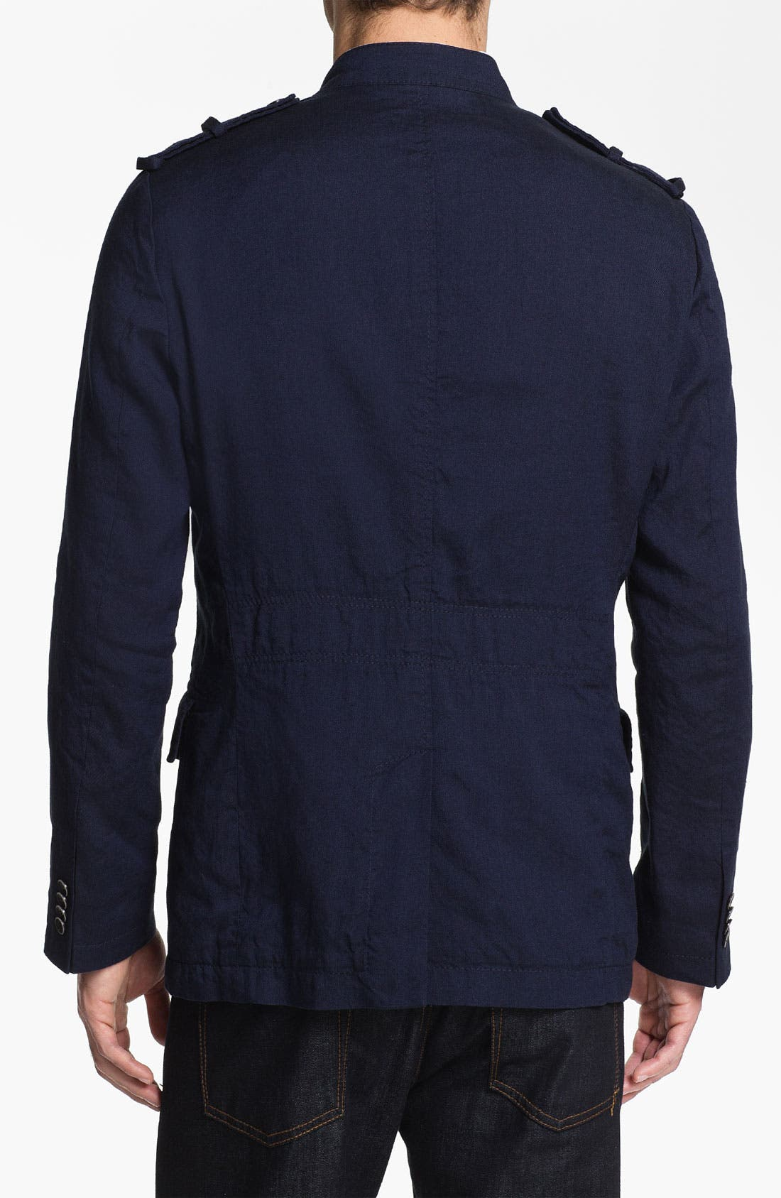 Alternate Image 2  - BOSS Black 'Harlow' Linen Blend Field Jacket (Online Exclusive)