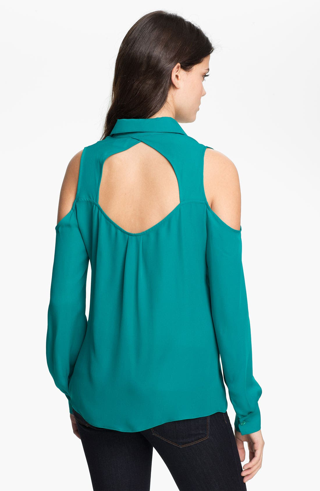 Alternate Image 2  - Parker Cutout Silk Blouse