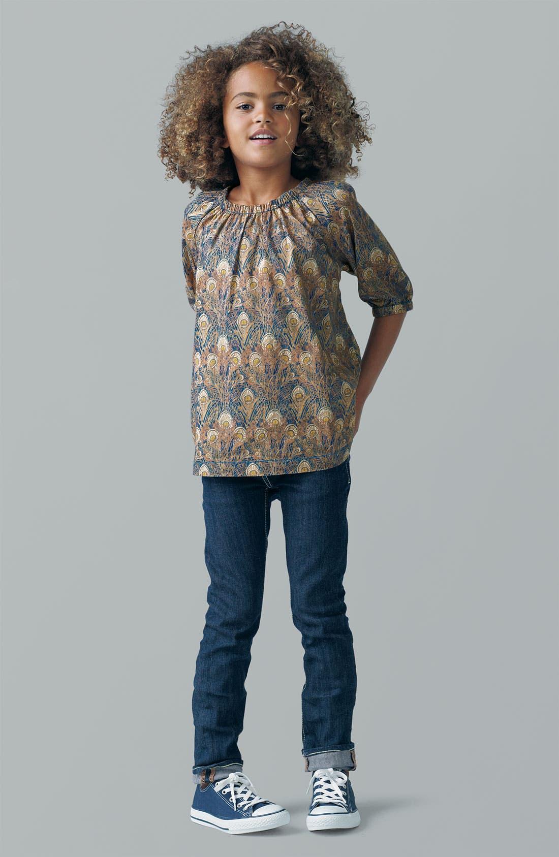 Alternate Image 1 Selected - Peek Top & Jeans (Toddler, Little Girls & Big Girls)