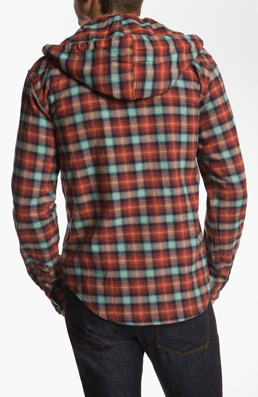Alternate Image 2  - Just A Cheap Shirt Button Down Flannel Hoodie