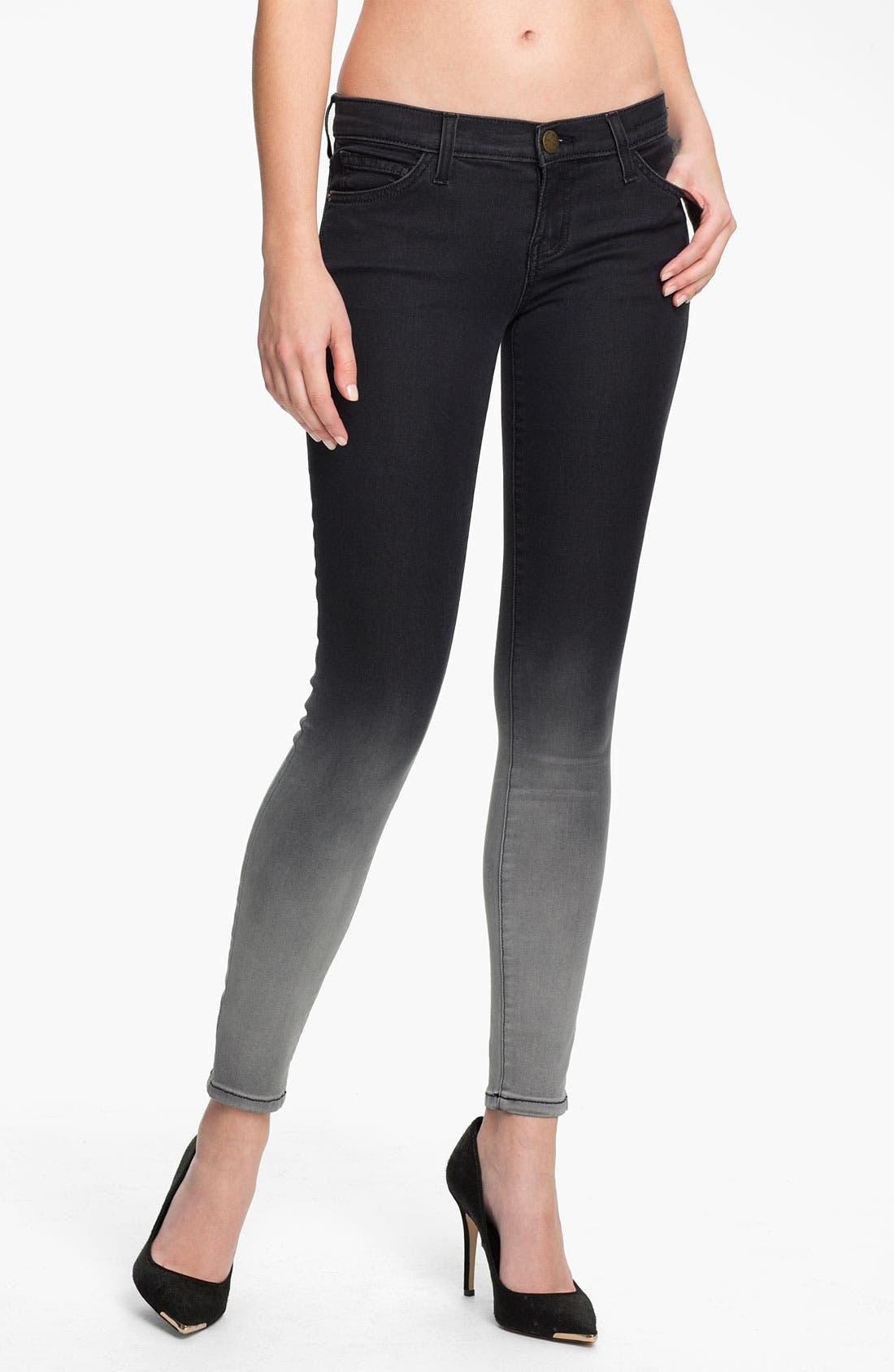 Main Image - Current/Elliott 'The Ankle' Print Crop Skinny Jeans (Black Fade)