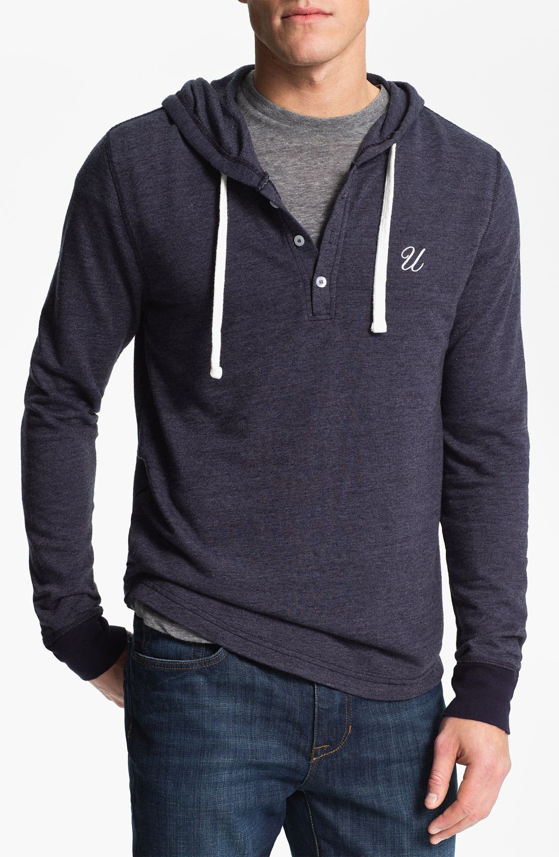 Alternate Image 1 Selected - UNCL Hooded Knit Henley