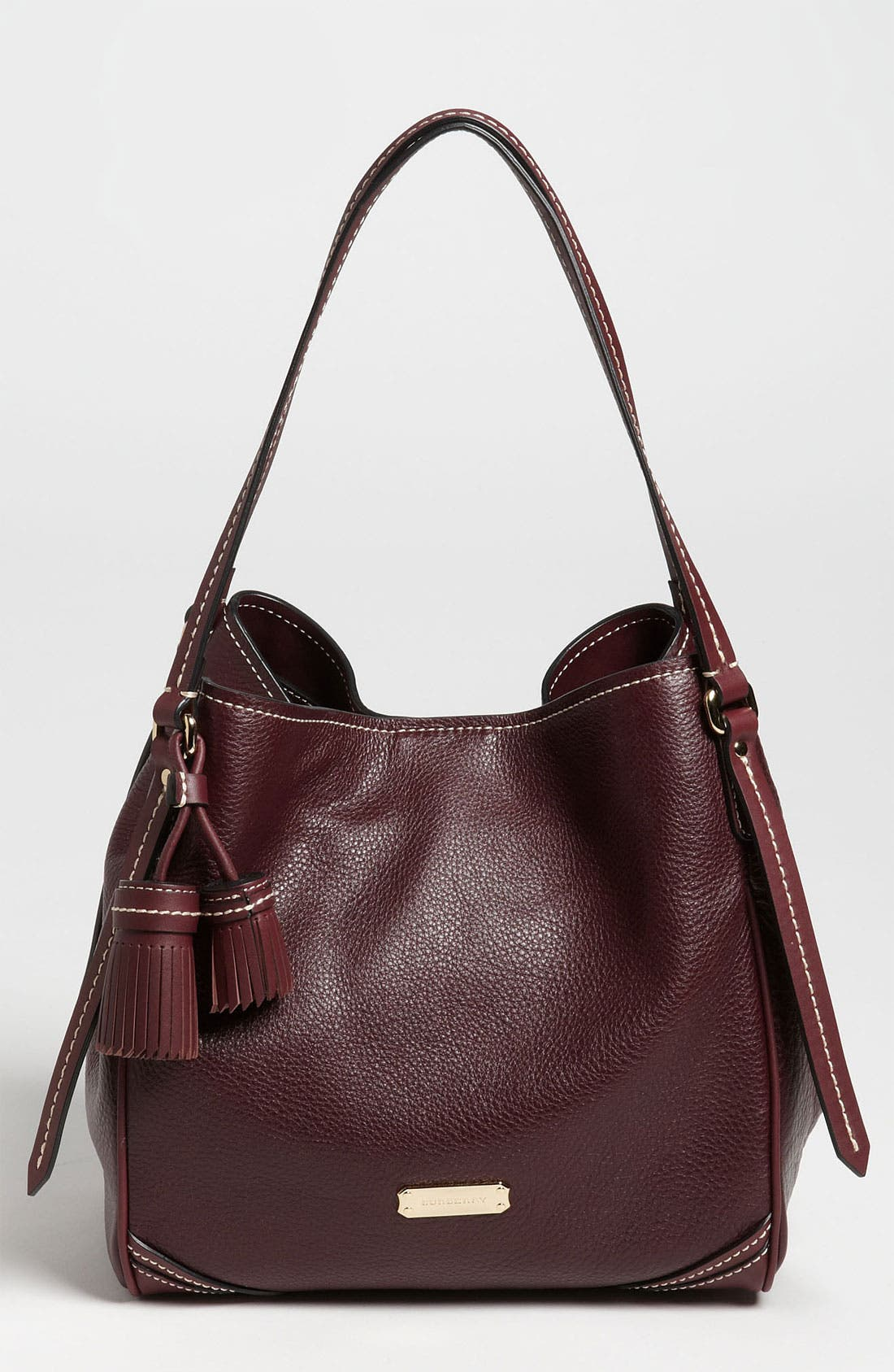 Alternate Image 1 Selected - Burberry 'Saddle Stitch' Leather Tote