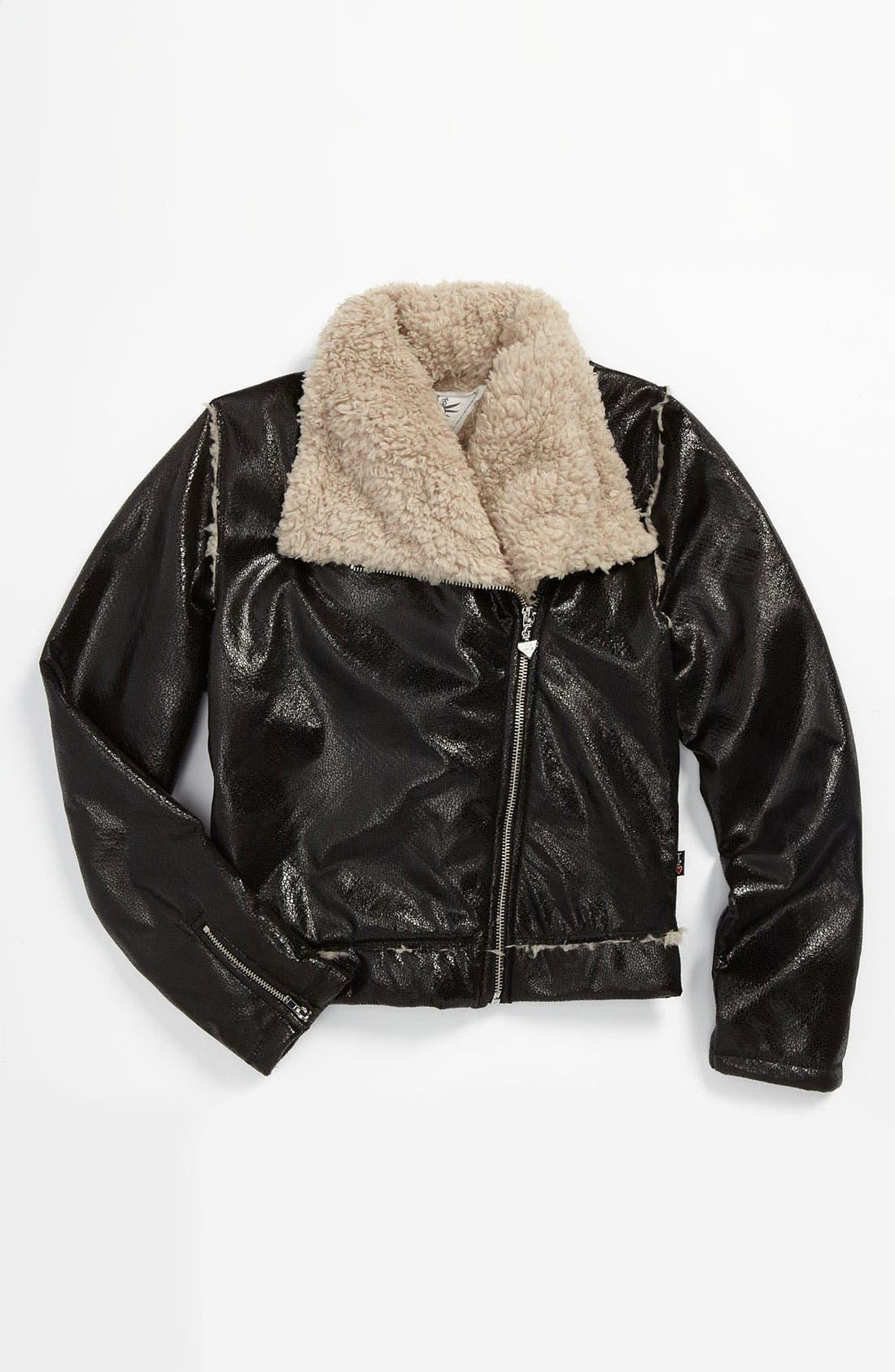 Alternate Image 1 Selected - T2 Love Moto Jacket (Big Girls)