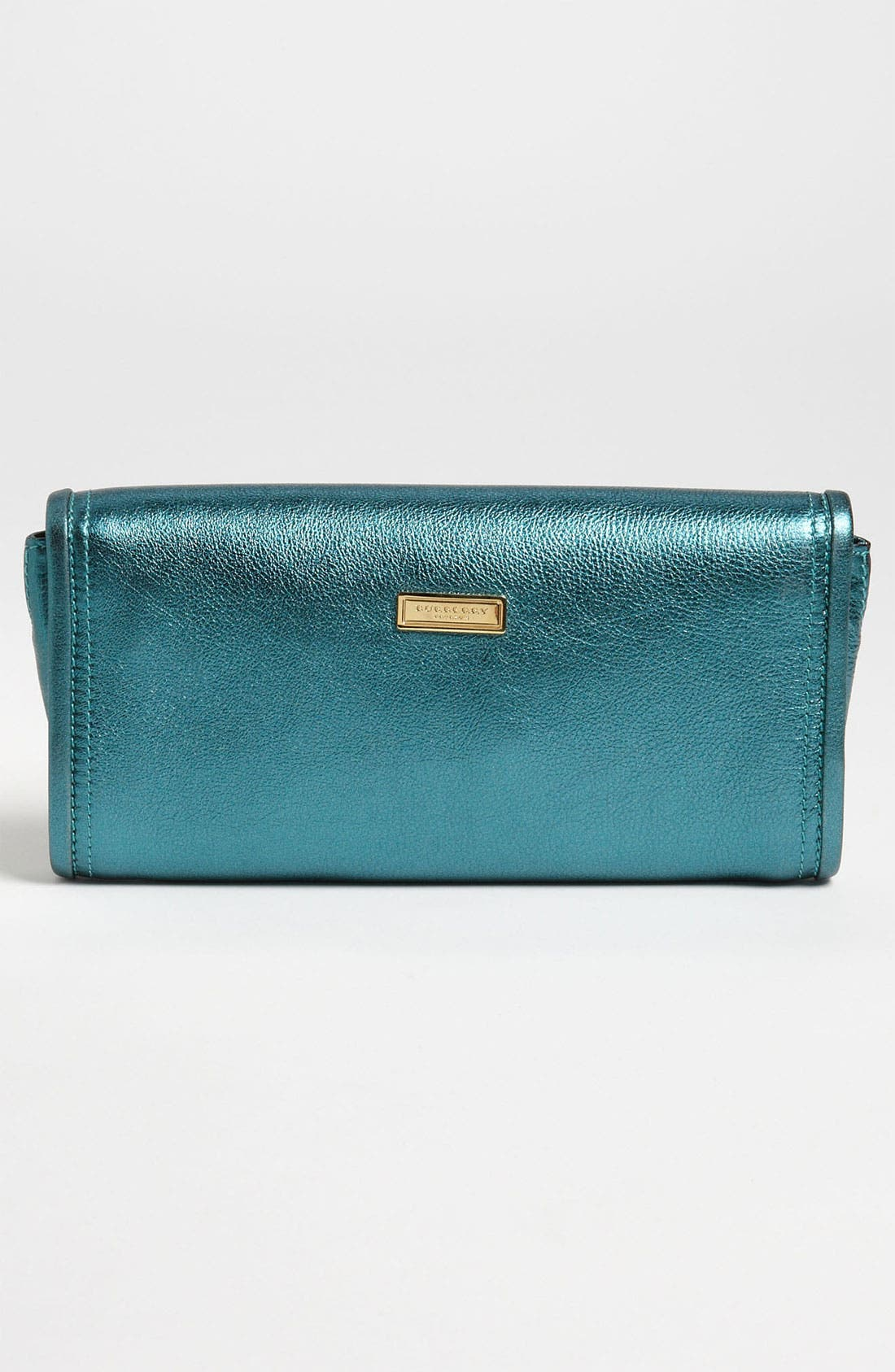 Alternate Image 4  - Burberry 'Soft Grainy Metallic' Leather Clutch